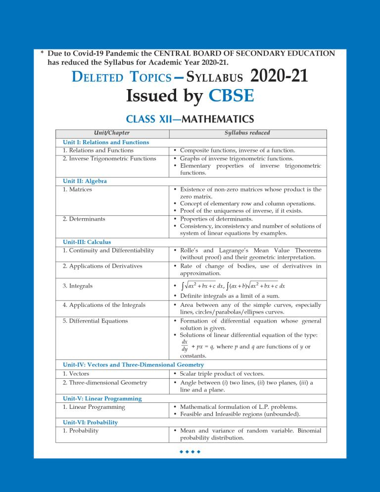 CBSE Chapterwise and Markswise Board Exam Question Bank By SHIVDAS for Class 12 Mathematics (2021 Board Exam Edition)