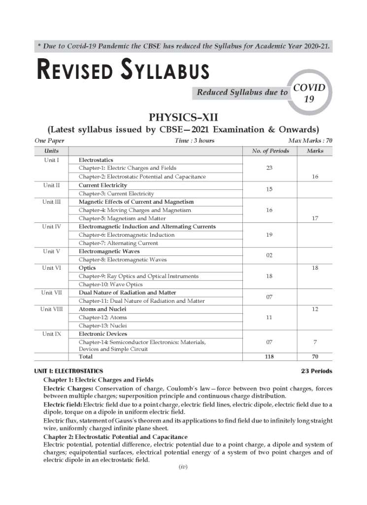 CBSE 2021 Pattern HI SCORE Board Sample Guess Papers for Class 12 Physics