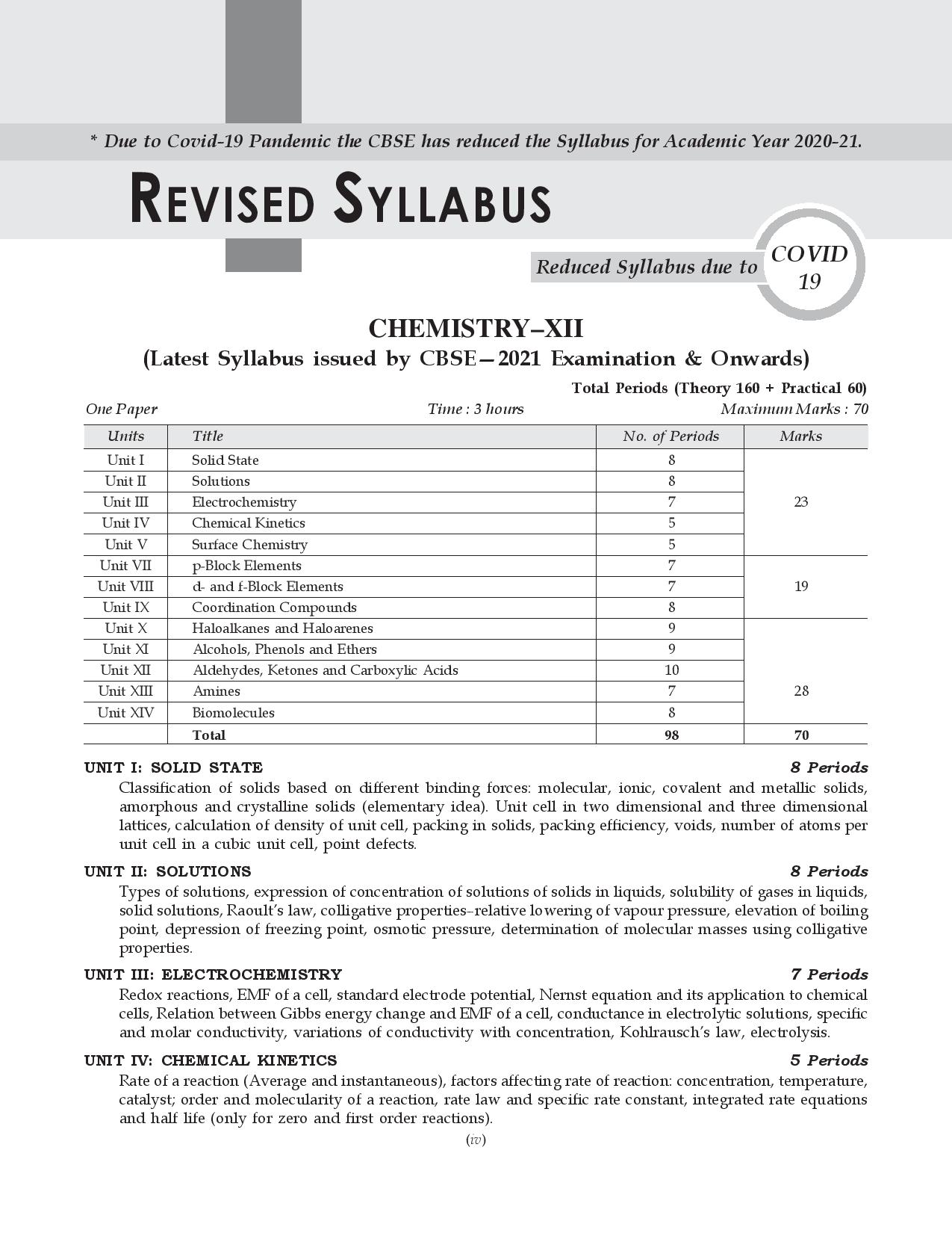 Shivdas CBSE Chapterwise and Markswise Board Exam Question Bank with Latest MCQ's for Class 12 Chemistry (2021 Reduced Edition)