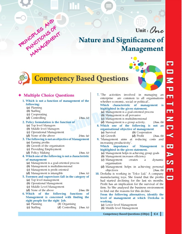 Shivdas CBSE Chapterwise Question Bank with MCQs Class 12 Business Studies for 2022 Exam (Latest Edition for Term 1)