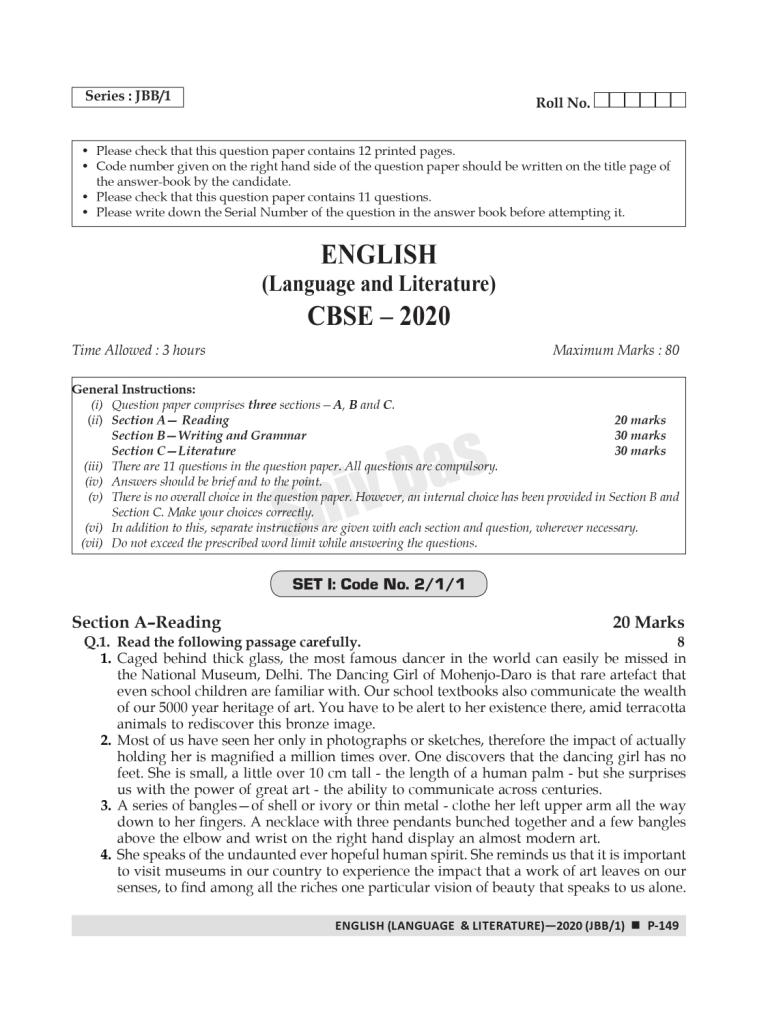 CBSE Past 7 Years Solved Board Papers and Sample Papers for Class 10 English Language and Literature By SHIVDAS (2021 Board Exam Edition)