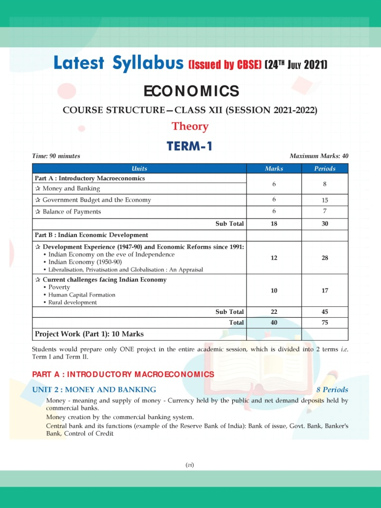 Shivdas CBSE Chapterwise Question Bank with MCQs Class 12 Economics for 2022 Exam (Latest Edition for Term 1)