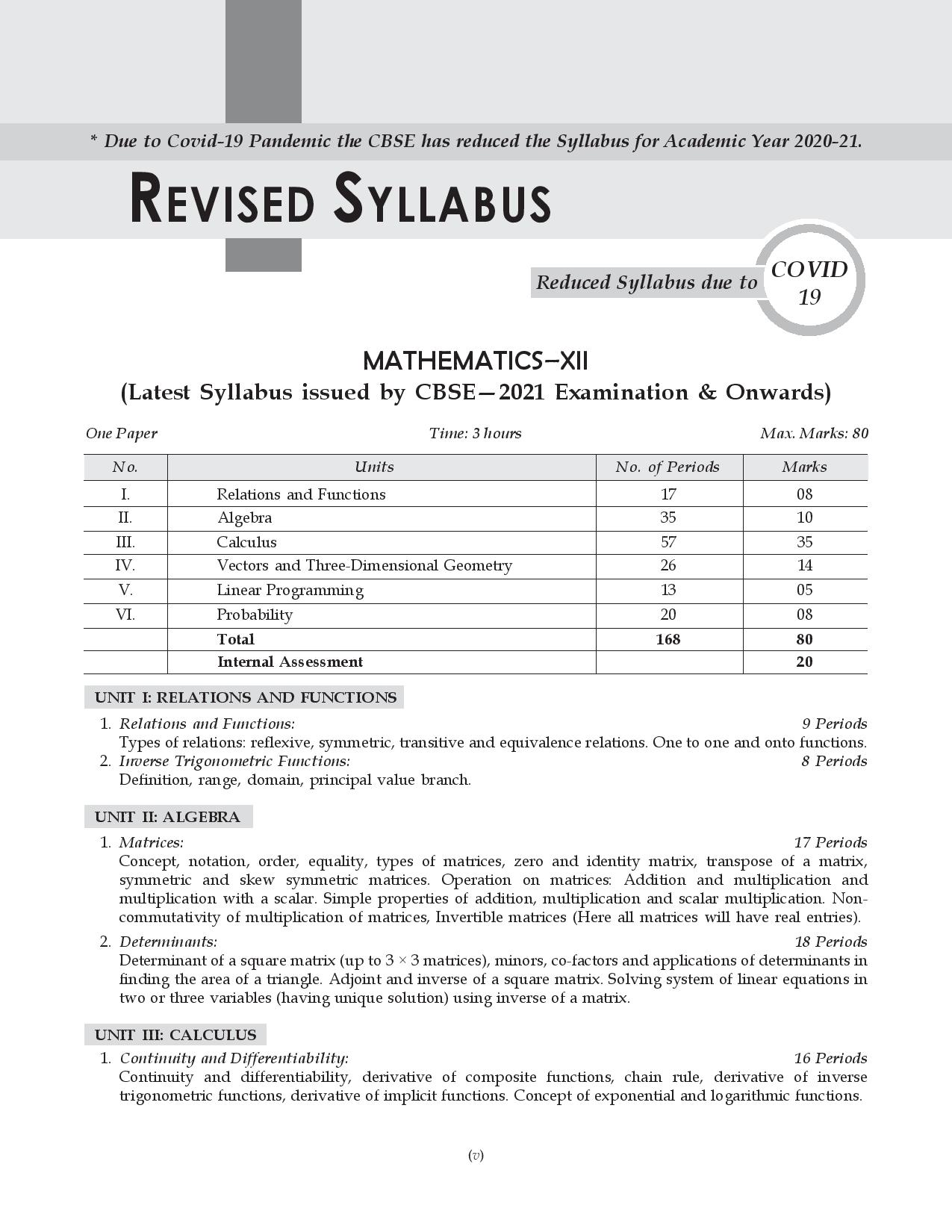 Shivdas CBSE Chapterwise and Markswise Board Exam Question Bank with Latest MCQ's for Class 12 Mathematics (2021 Reduced Edition)