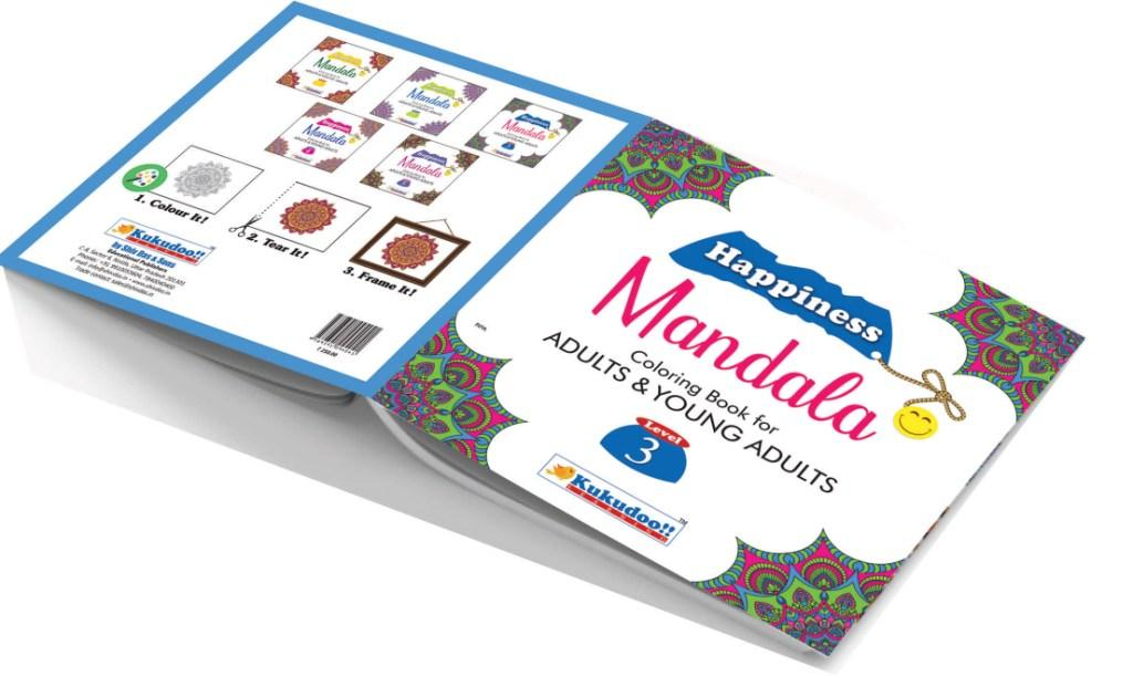 Happiness Mandala Colouring Book for Adults and Young Adults Level 3