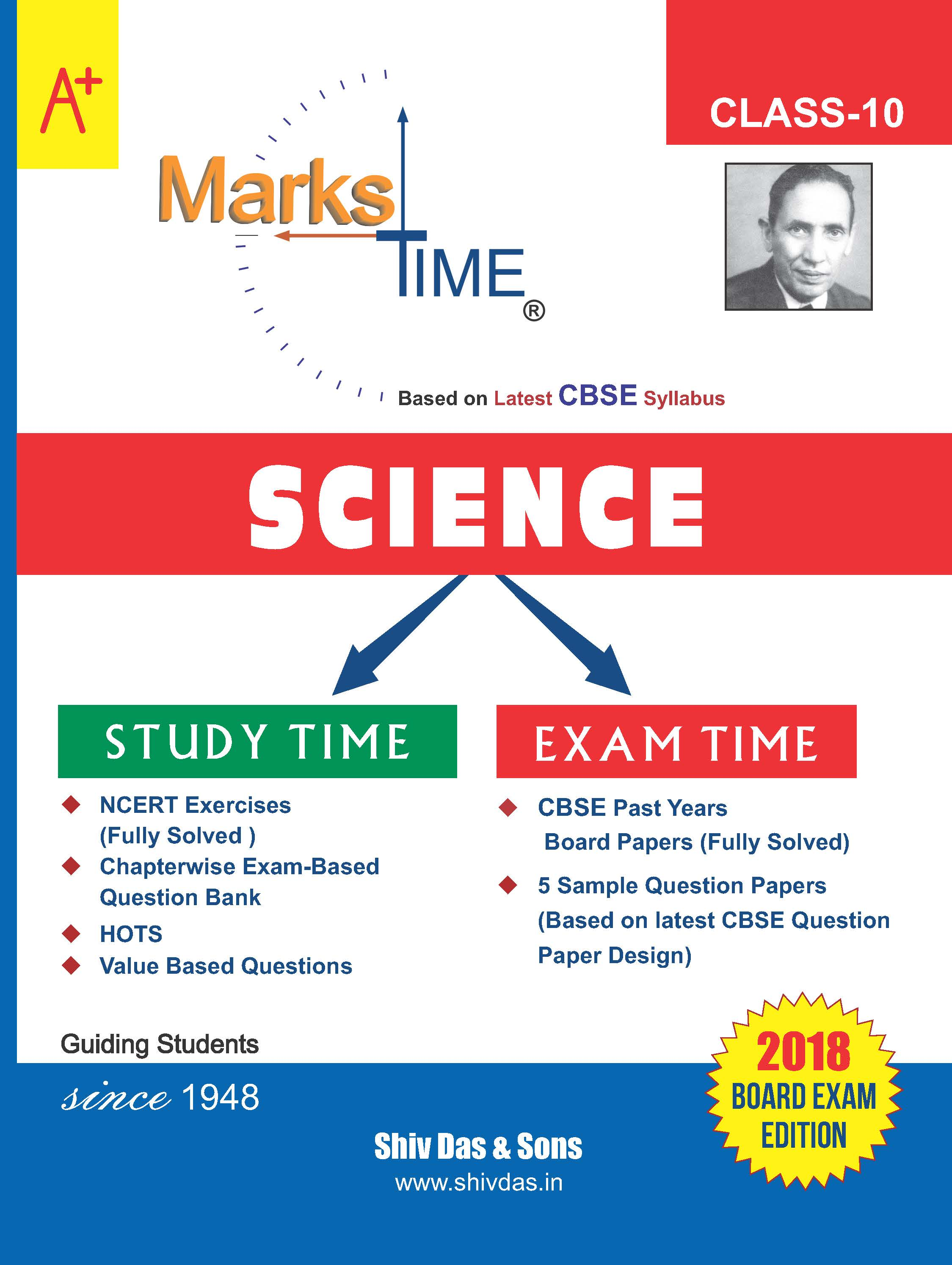 Marks Time CBSE Board Study Guide for Class 10 Science (2018 Board Exam Edition)