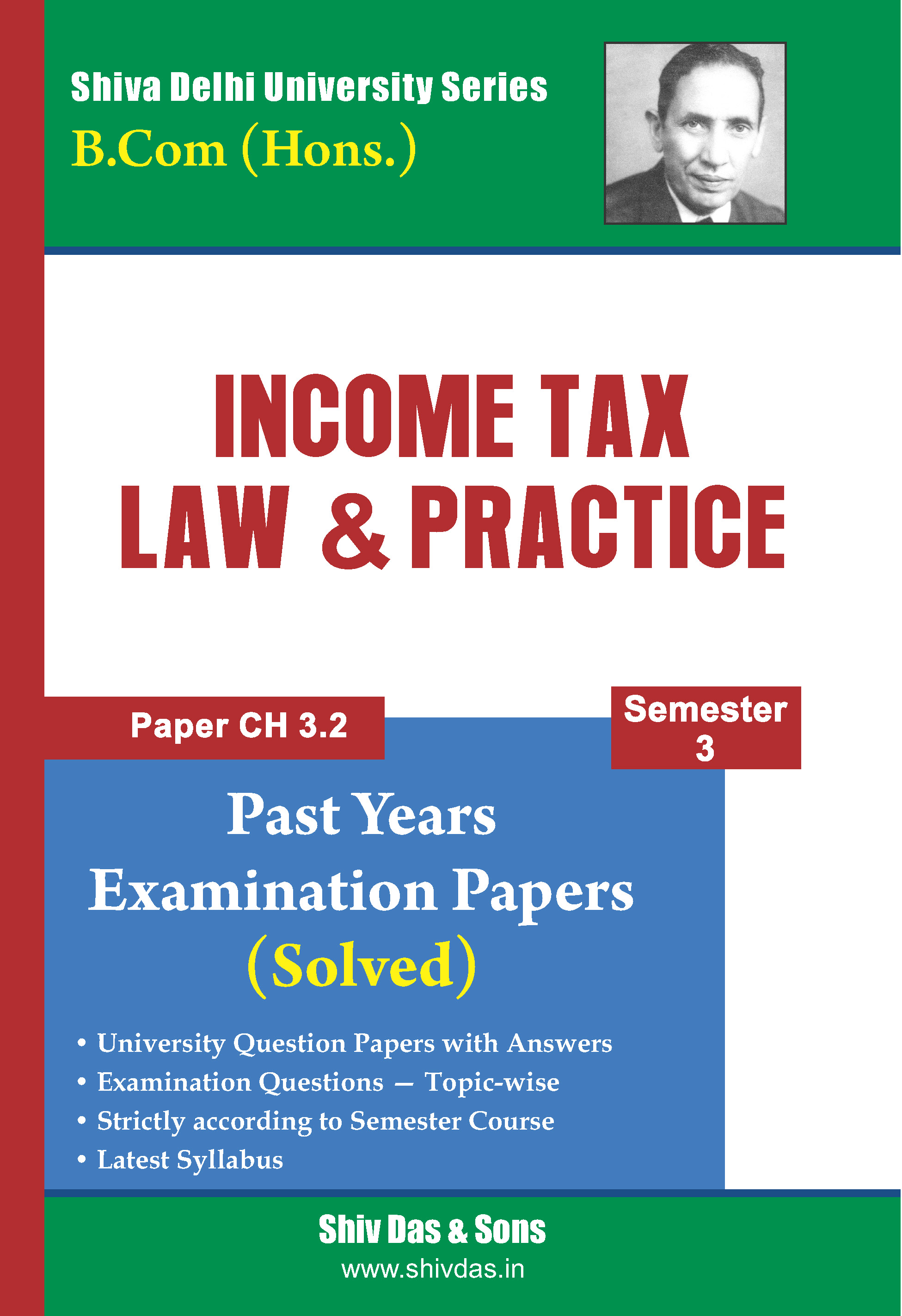 B.Com [Hons.] Semester-3 Income Tax Law & Practice