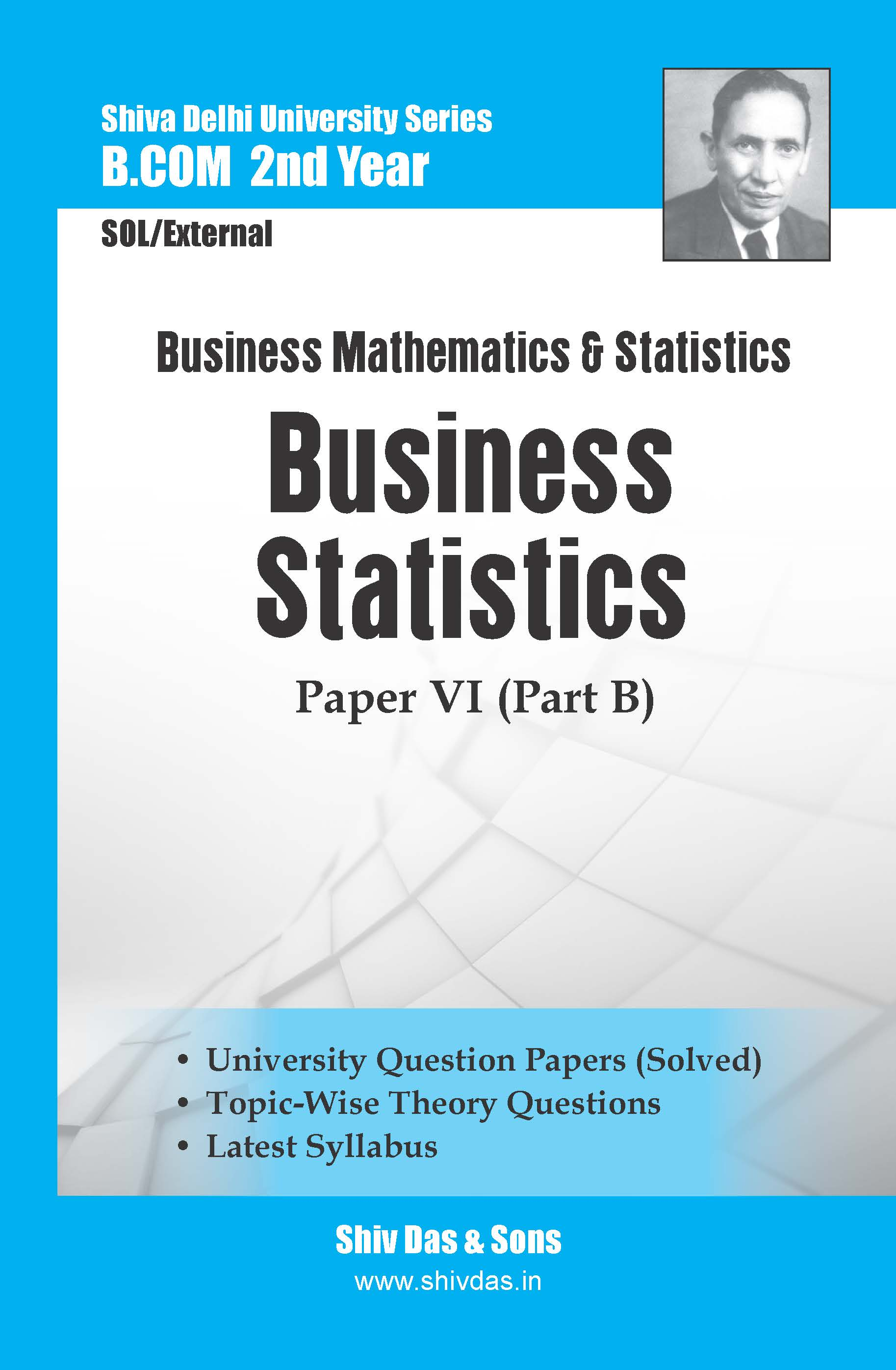 B.Com 2nd Year SOL/External Business Statistics (Hindi Medium) Shiv Das Delhi University Series