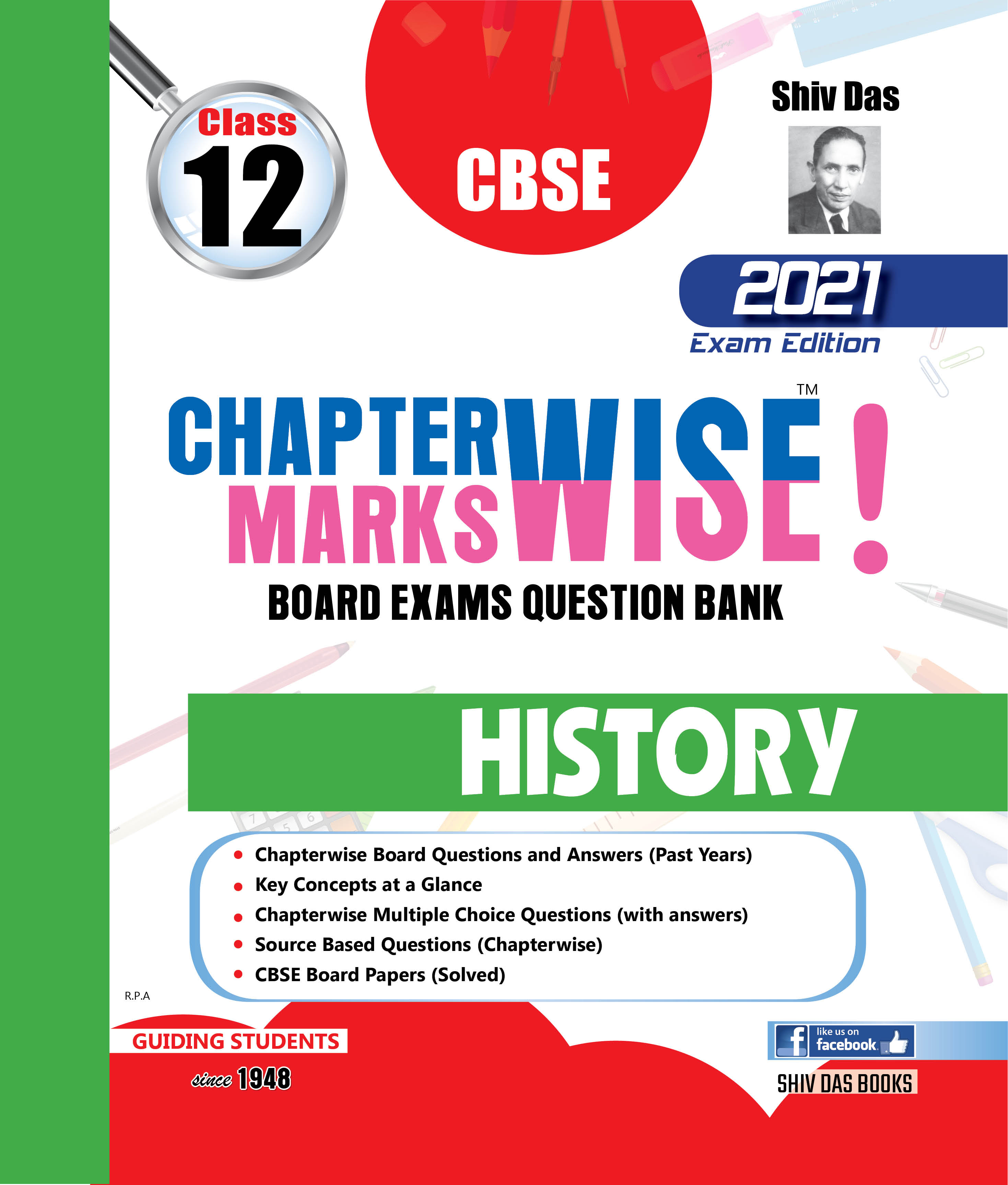 CBSE Chapterwise Markswise Yearwise Board Exam Questions Bank For Class 12 History (2021 Board Exam Edition)