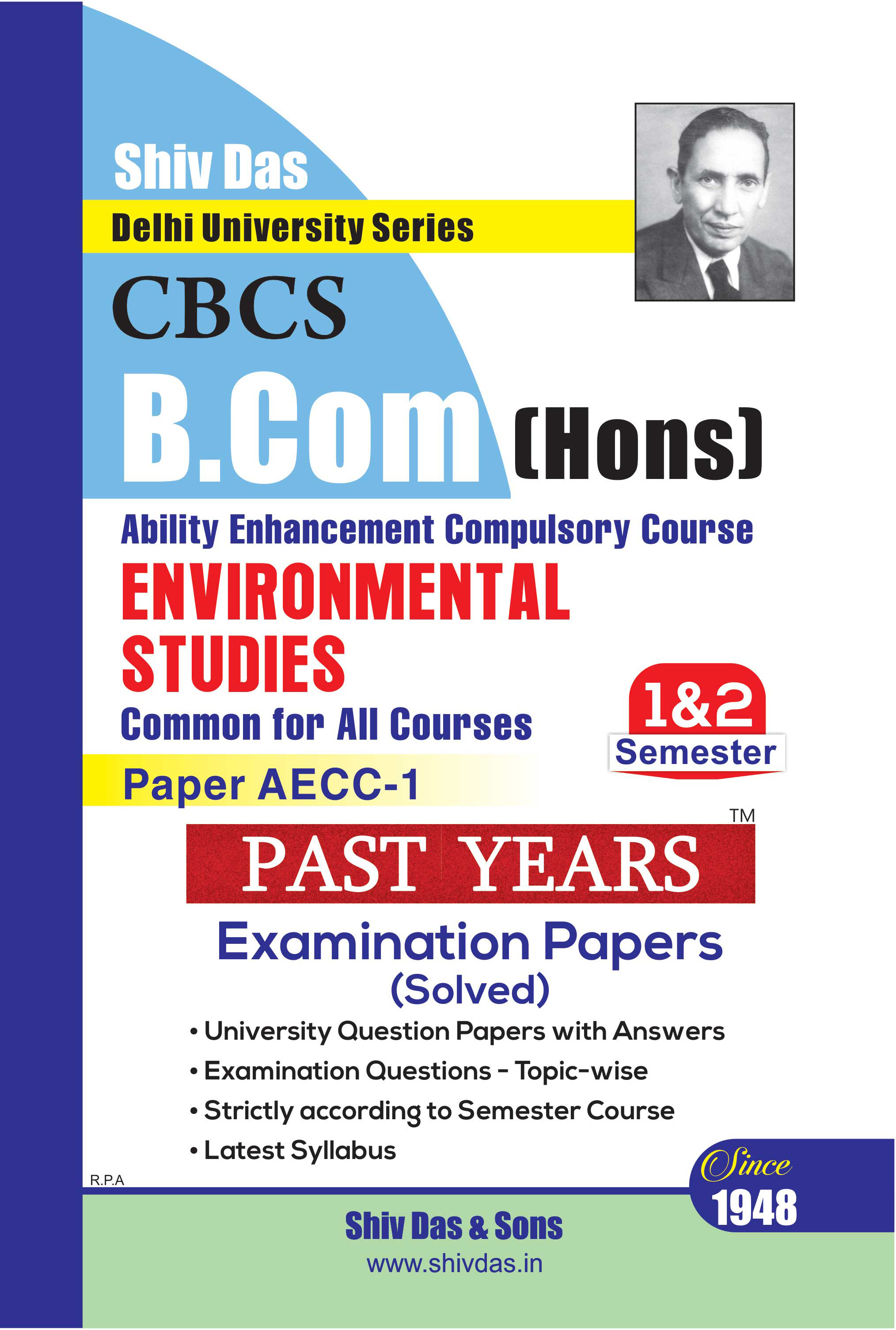 Environmental Science for B.Com Hons Semester 2 for Delhi University by Shiv Das