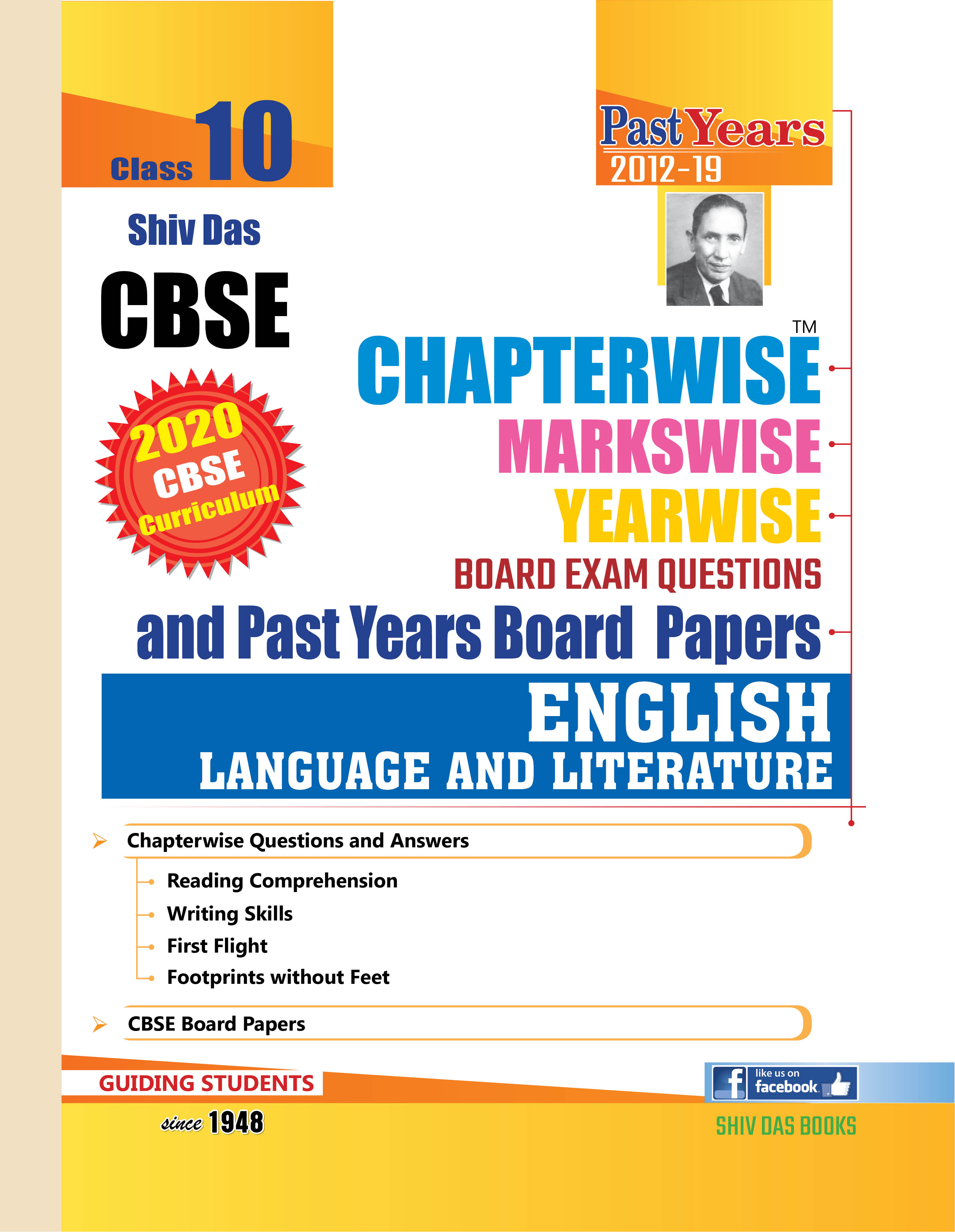 CBSE Chapterwise Markswise Yearwise Board Exam Questions Bank For Class 10 English Language & Literature (2020 Board Exam Edition)