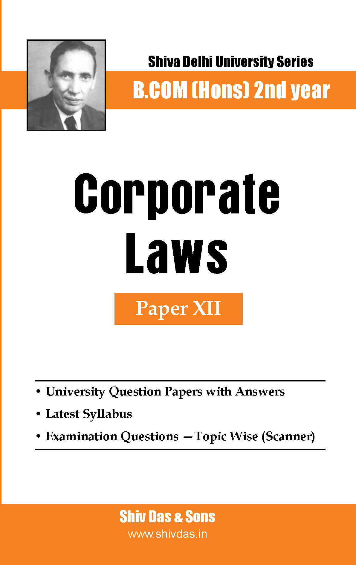 B.Com Hons-SOL/External-2nd Year-Corporate Laws-Shiv Das-Delhi University Series