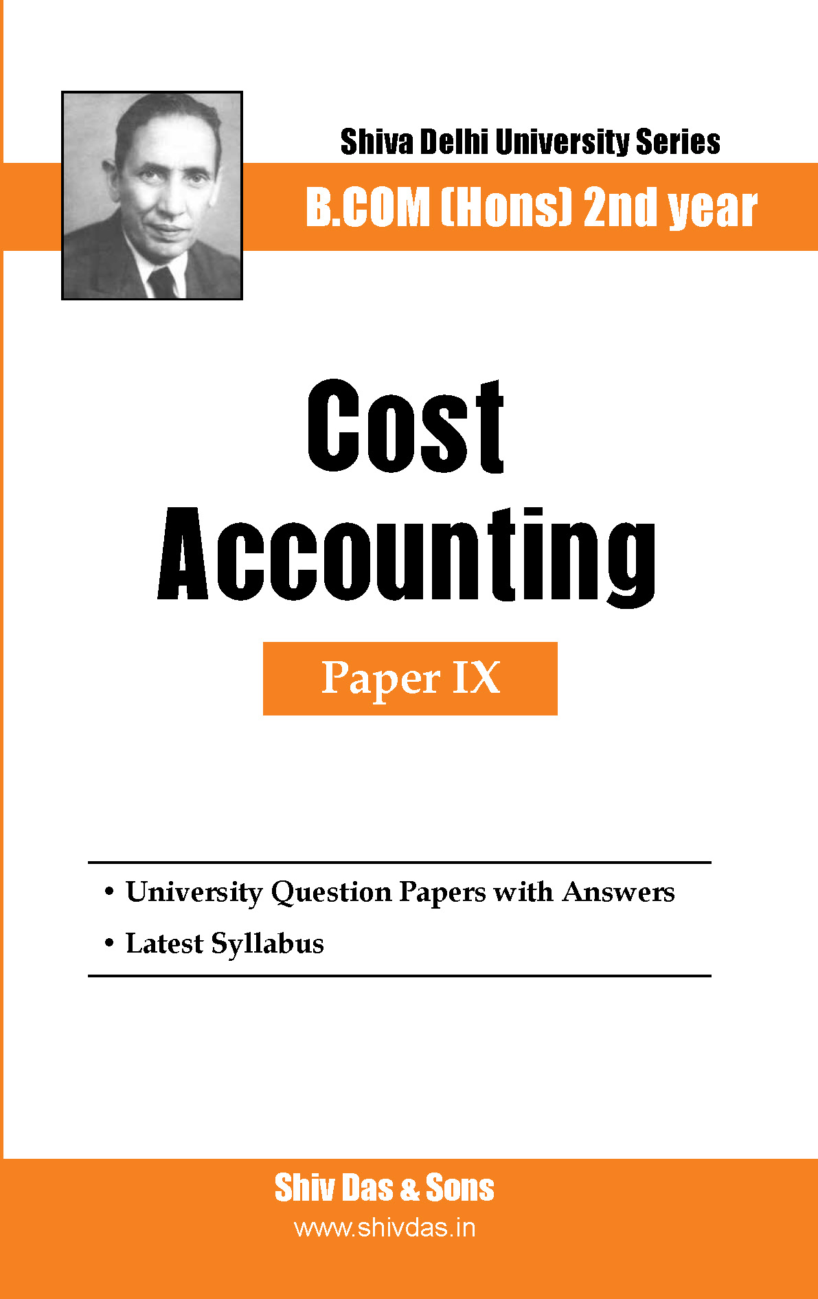 B.Com Hons-SOL/External-2nd Year-Cost Accounting-Shiv Das-Delhi University Series