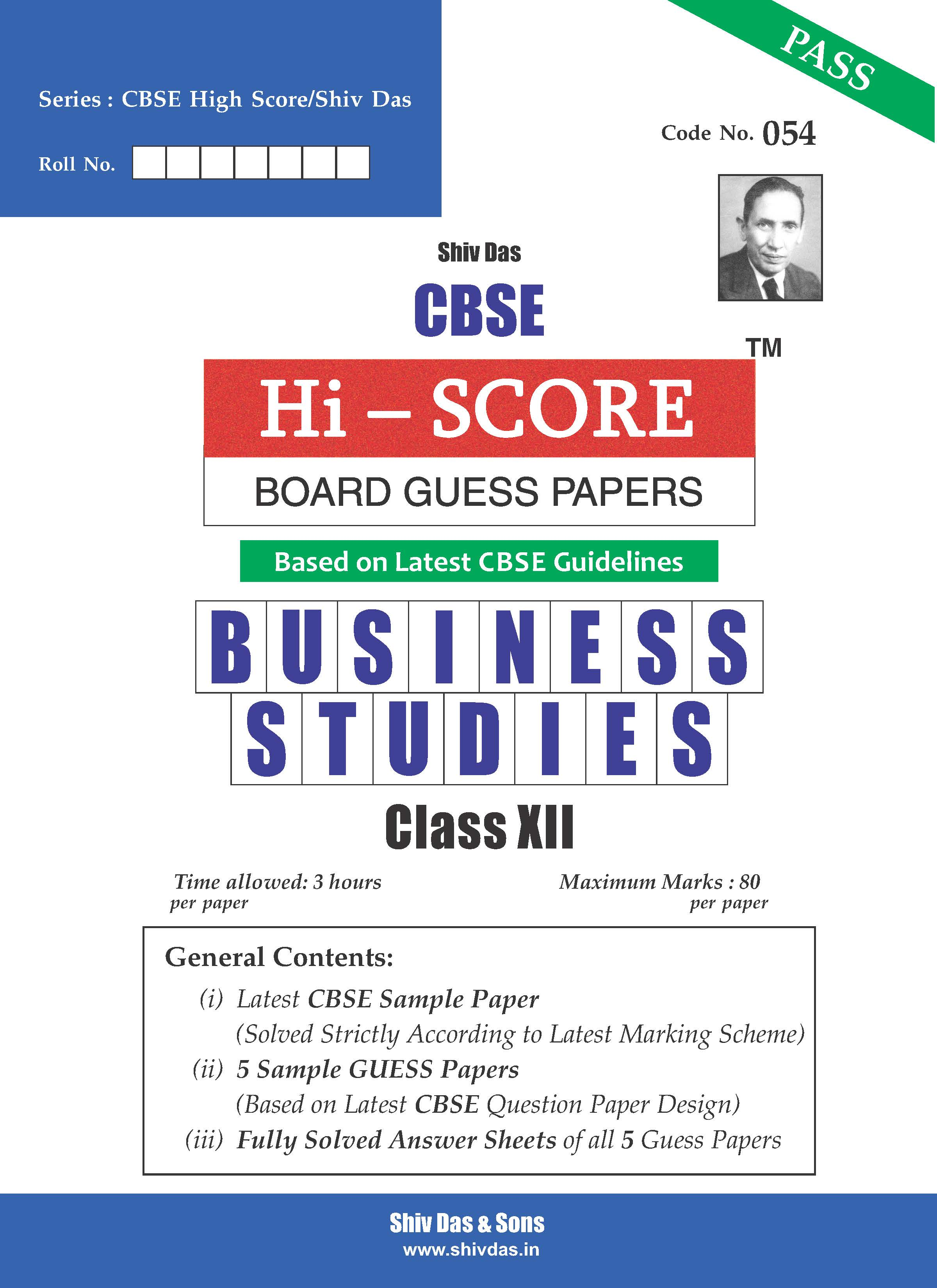 CBSE Hi Score Board Guess Papers for Class 12 Business Studies