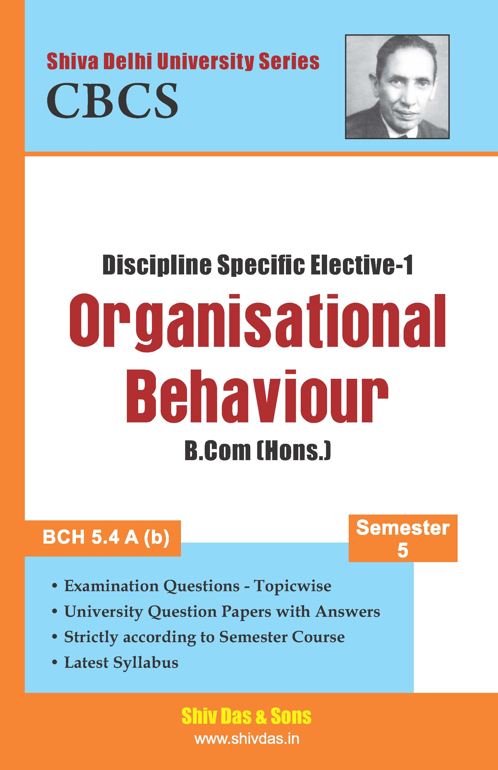 B.Com [Hons.] Semester-5 Organisational Behaviour