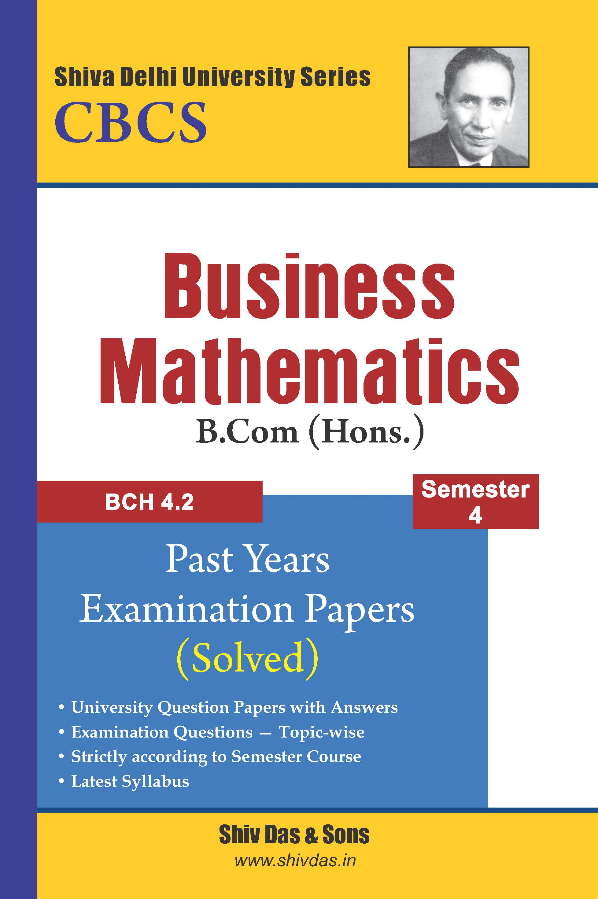 B.Com Hons. Semester-4 Business Mathematics