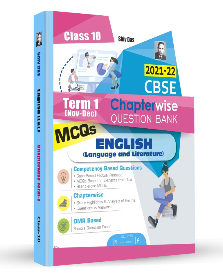 Shivdas CBSE Chapterwise Question Bank with MCQs Class 10 English Language and Literature for 2022 Exam (Latest Edition for Term 1)