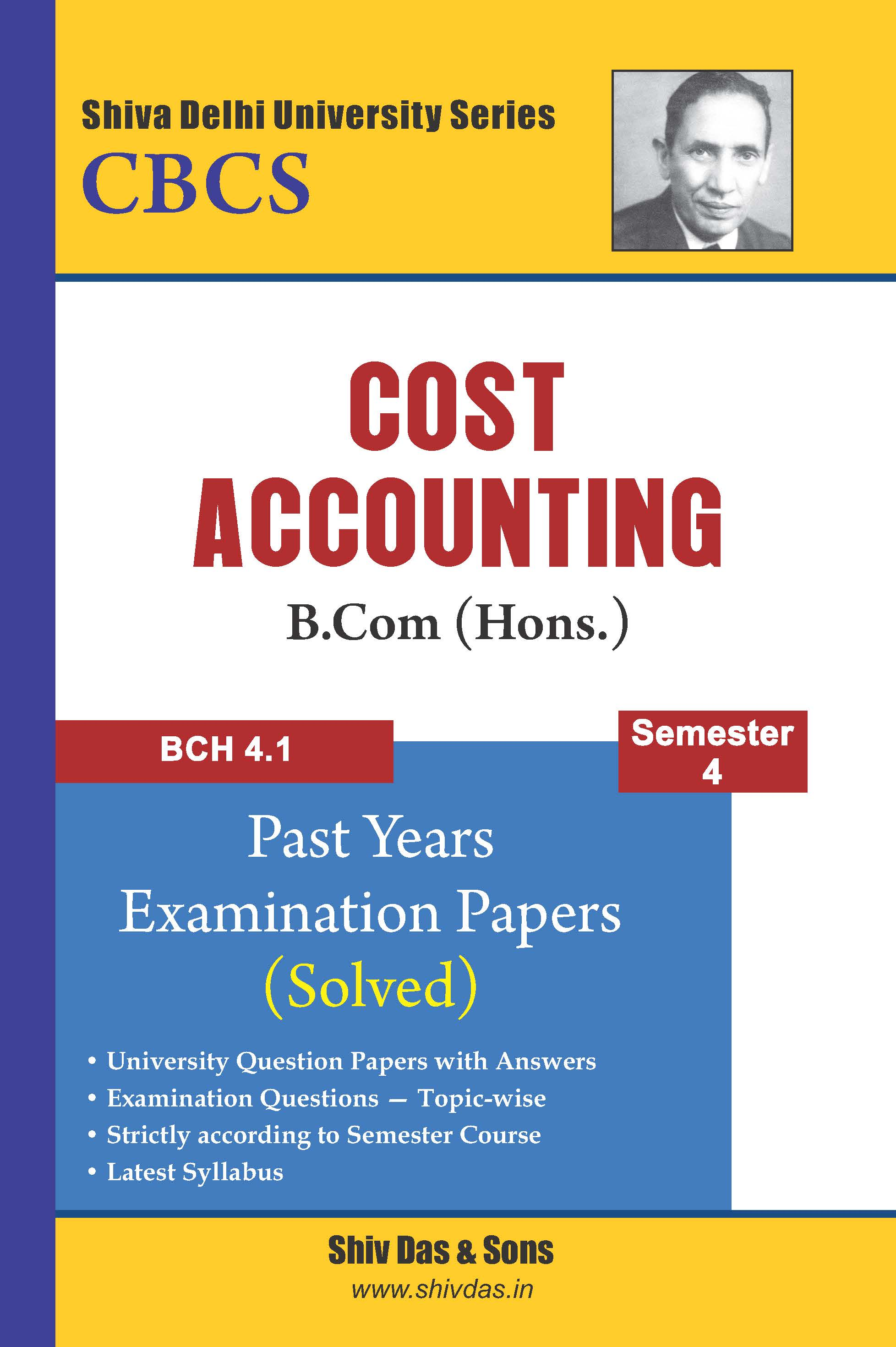 Cost Accounting for B.Com Hons Semester 4