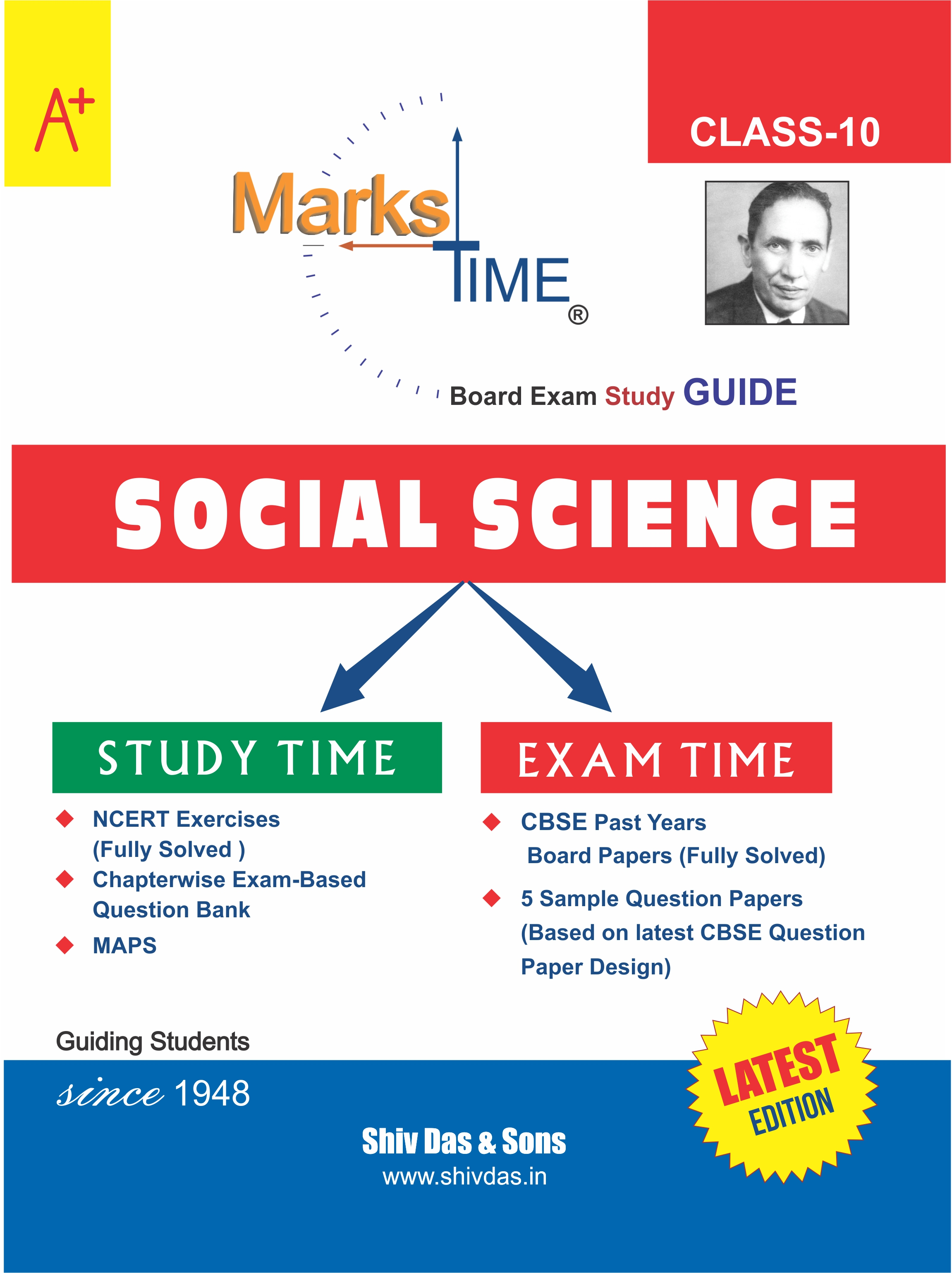 Marks Time CBSE Board Study Guide for Class 10 Social Science (2020 Board Exam Edition)