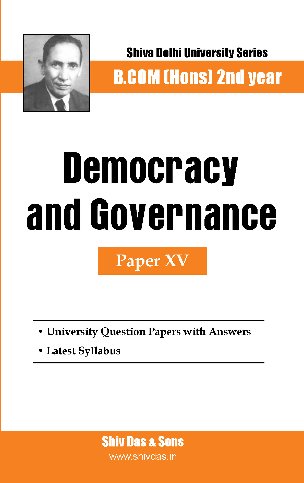 B.Com Hons-SOL/External-2nd Year-Democracy and Governance-Shiv Das-Delhi University Series