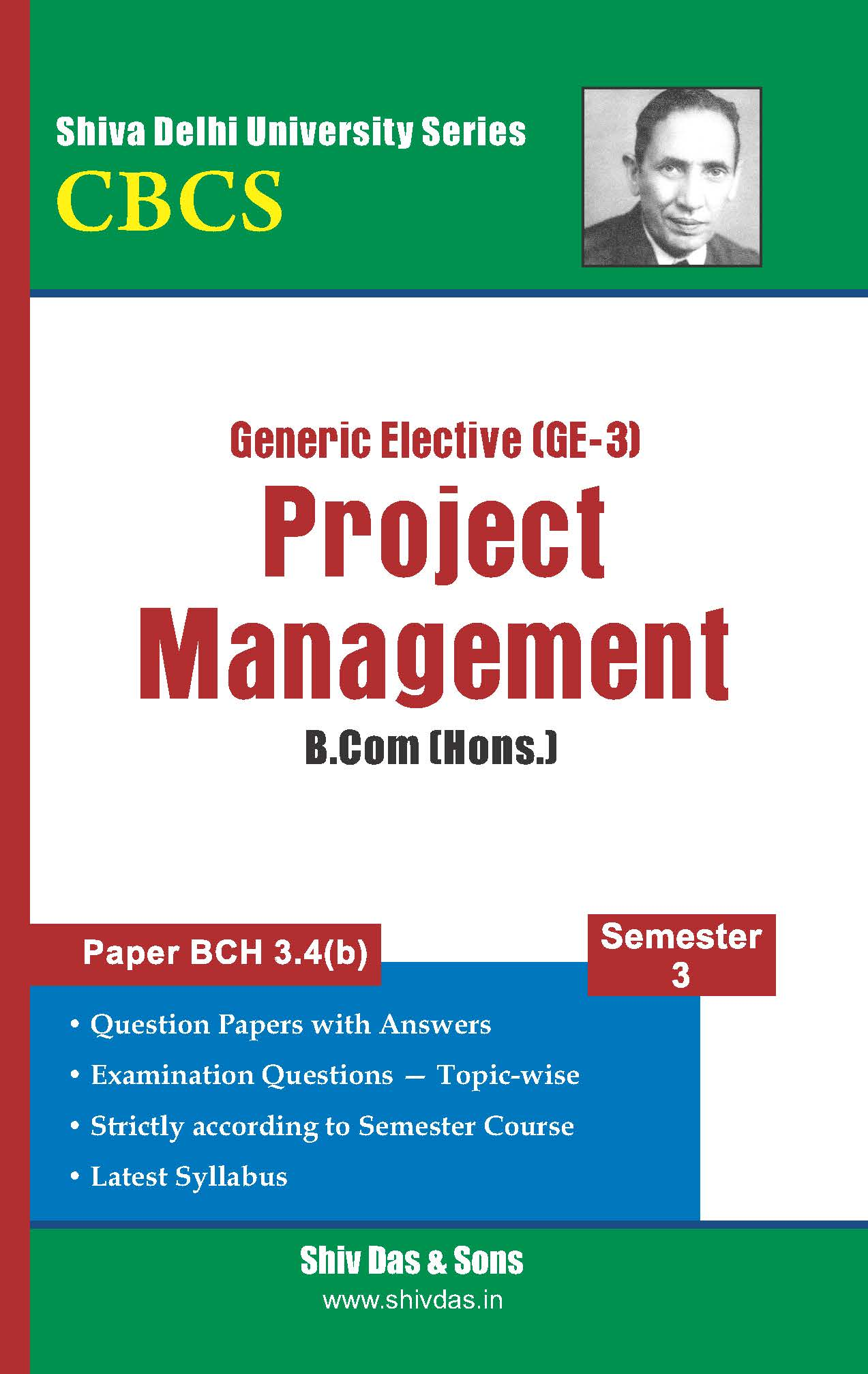 B.Com Hons. Semester- 3 Project Management