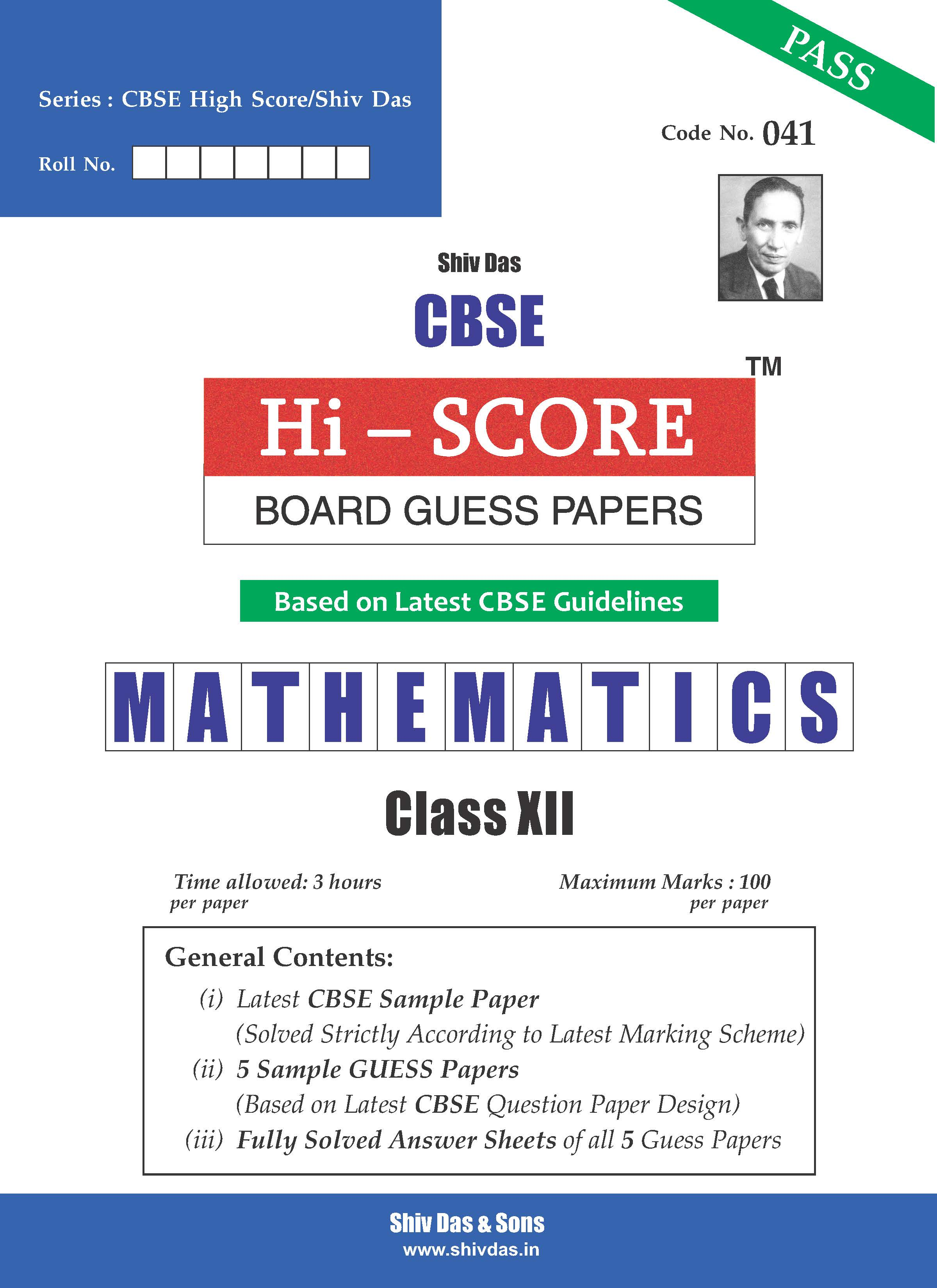 CBSE Hi Score Board Guess Papers for Class Mathematics