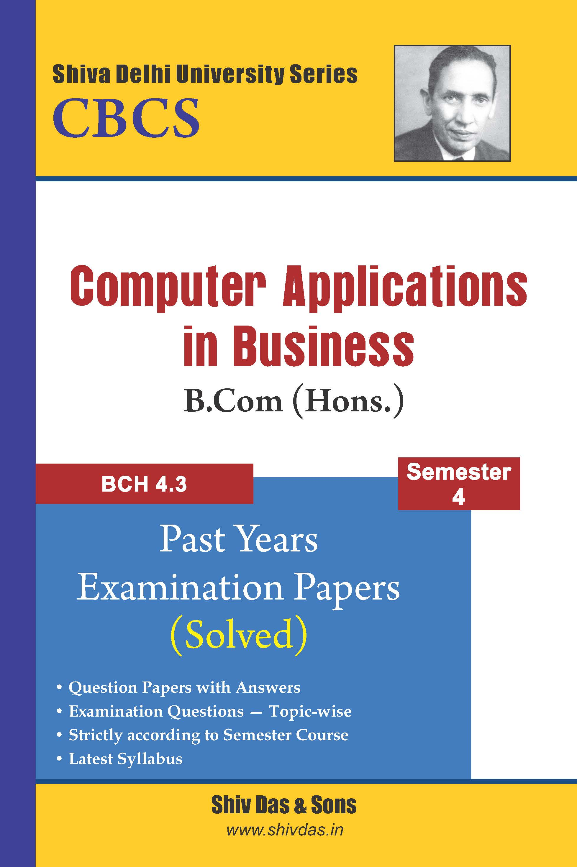 Computer Applications in Business for B.Com Hons Semester 4