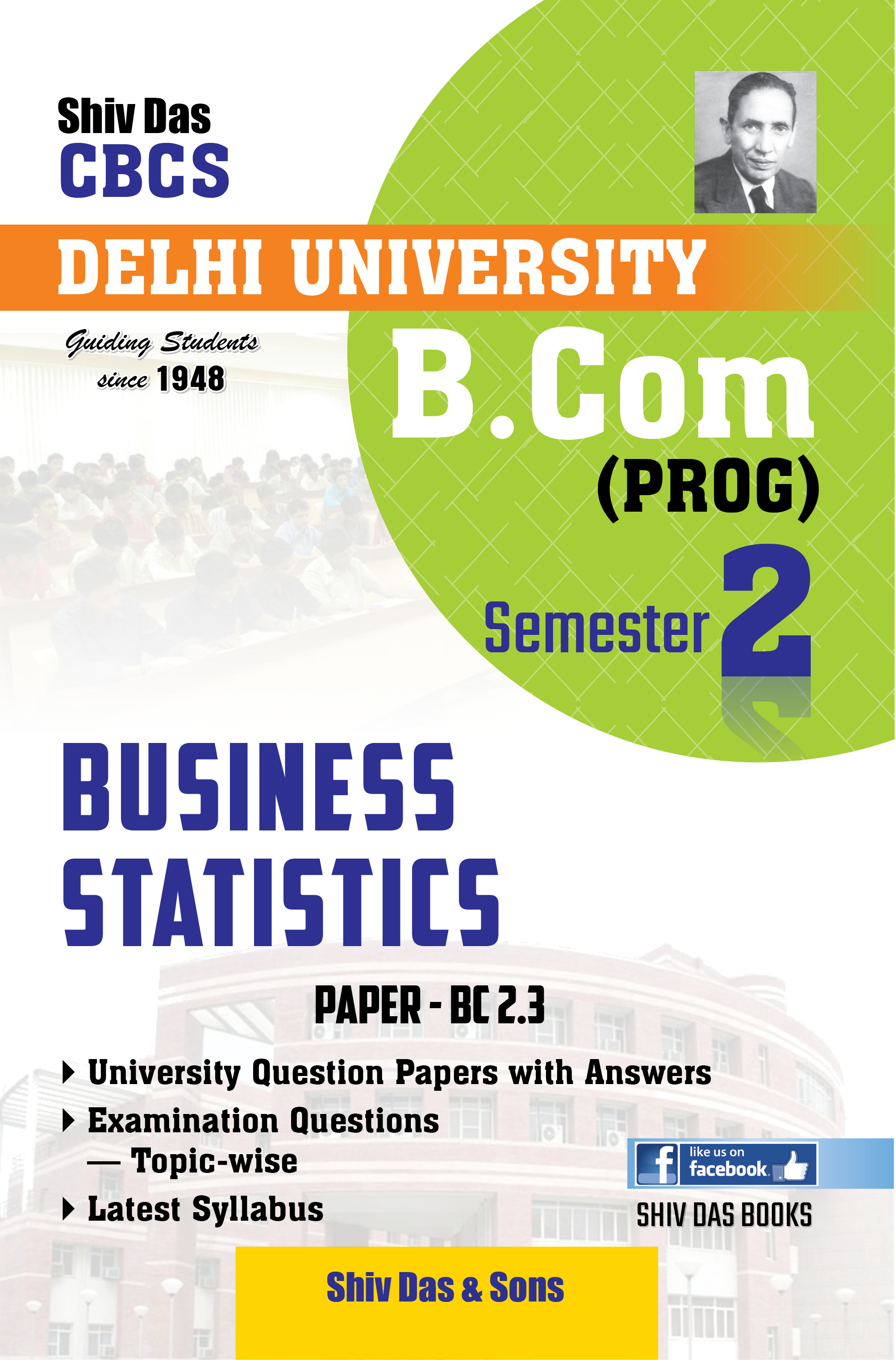 Business Statics (Eng. Medium) for B.Com 1st Year SOL/External
