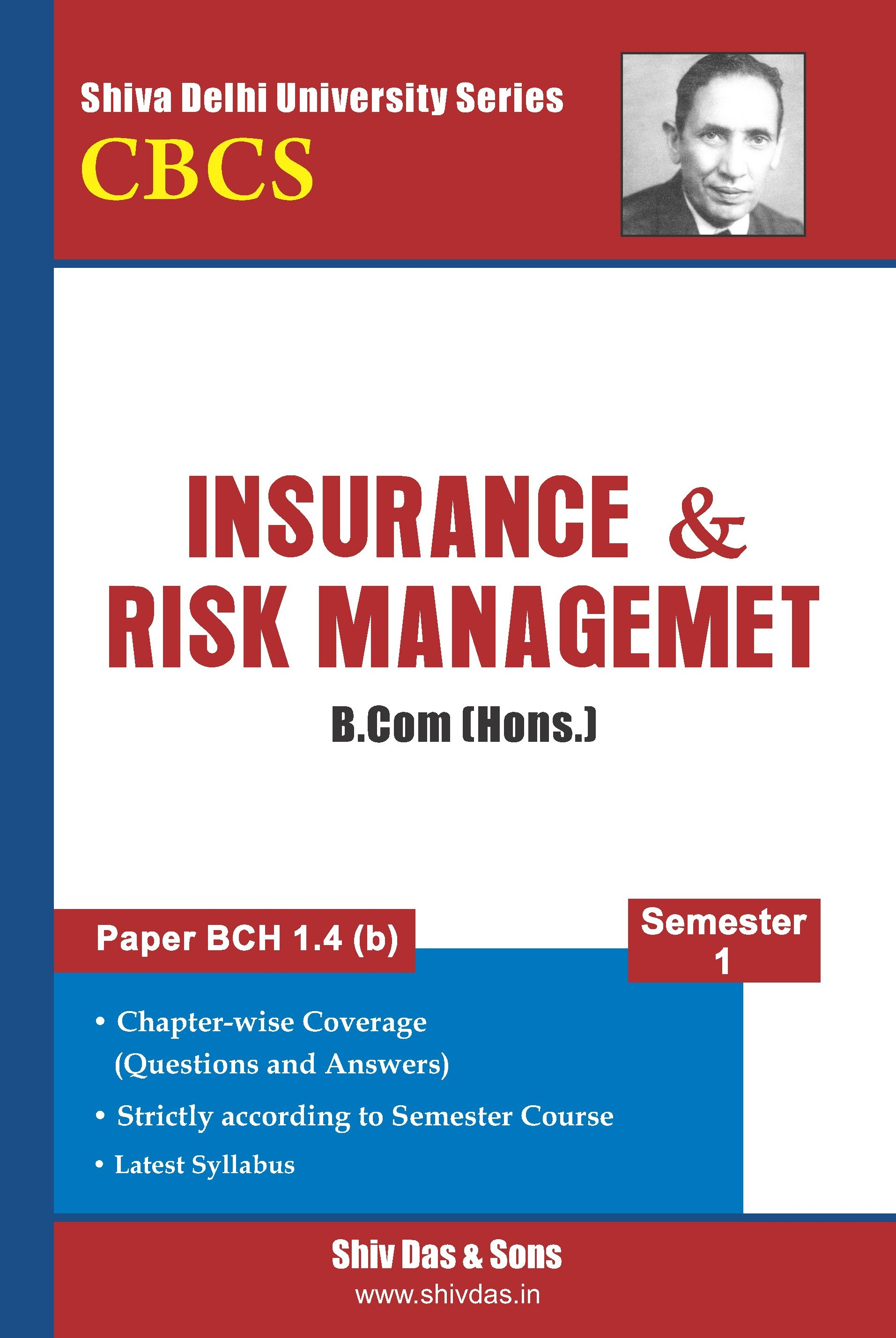 B.Com Hons. Semester-1 Insurance& Risk Management