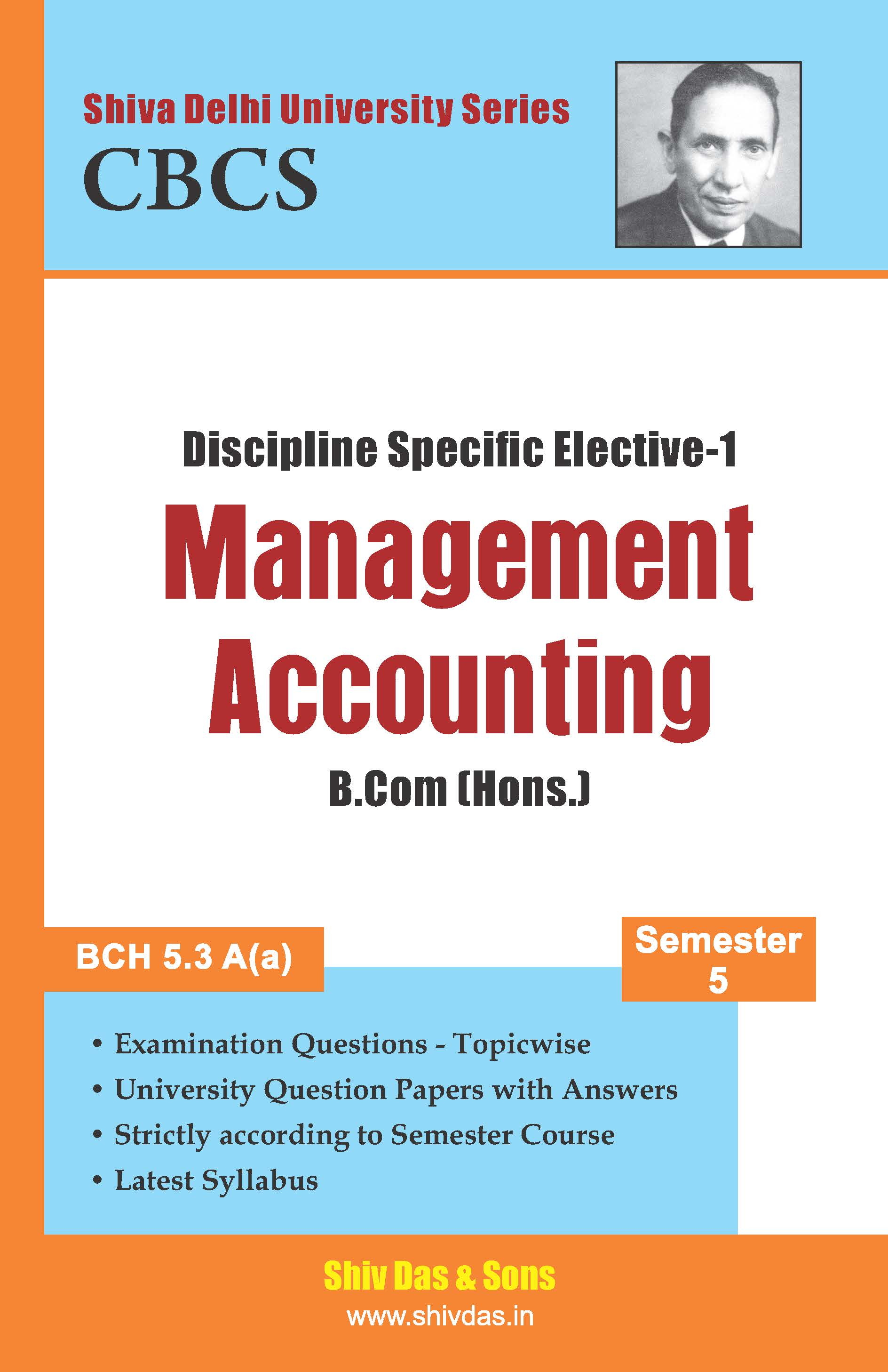 B.Com [Hons.] Semester-5 Management Accounting
