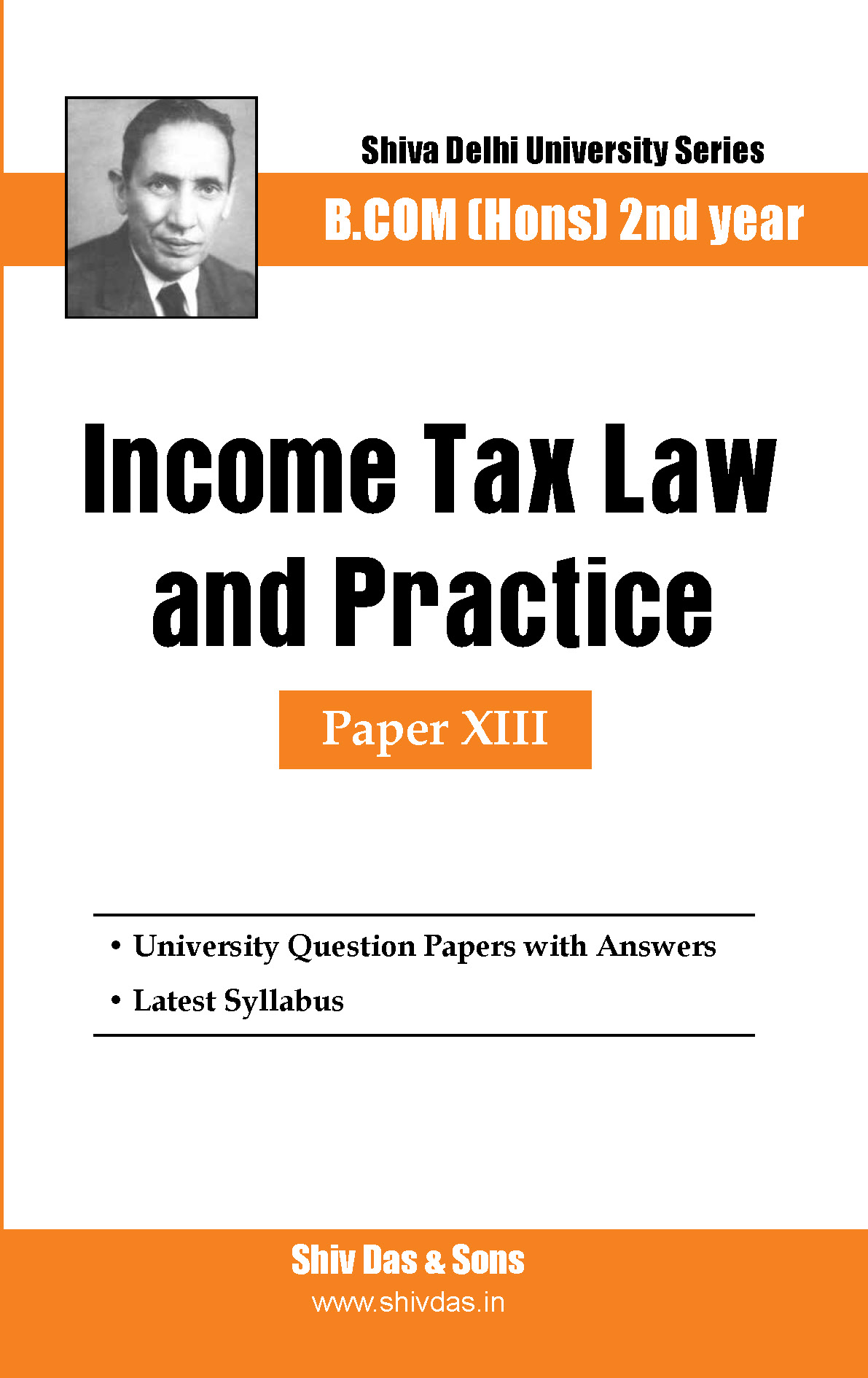 B.Com Hons-SOL/External-2nd Year-Income Tax Law & Practice-Shiv Das-Delhi University Series