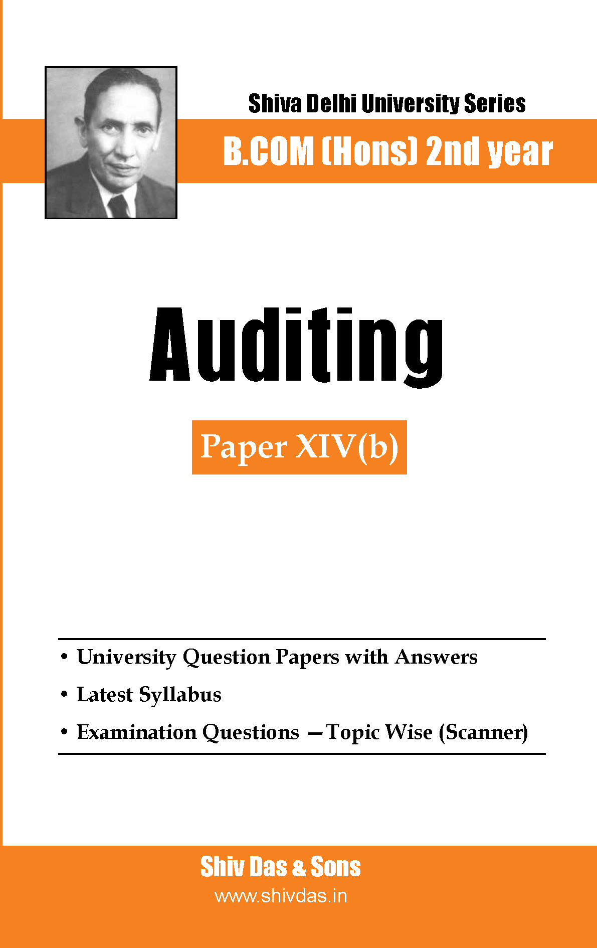 B.Com Hons-SOL/External-2nd Year-Auditing-Shiv Das-Delhi University Series