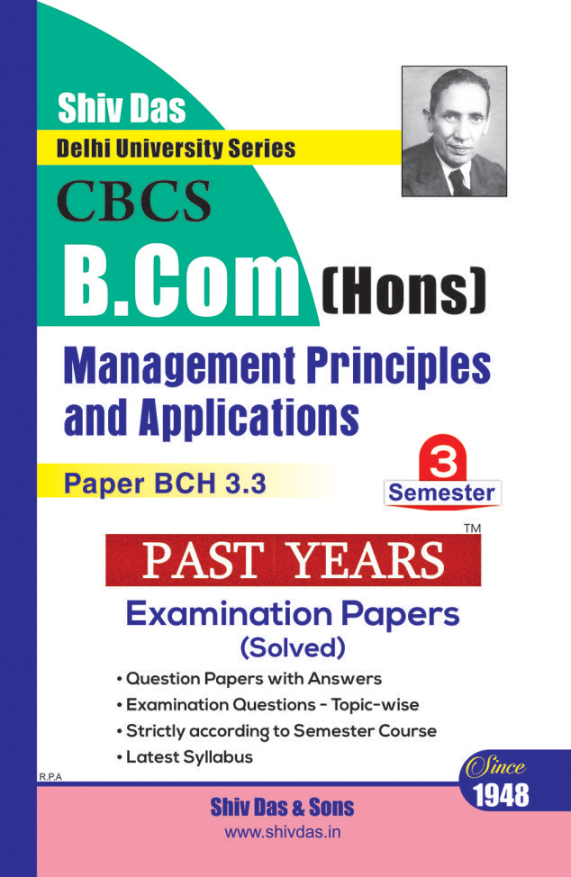 B.Com Hons. Semester-3 Management Principles and Applications
