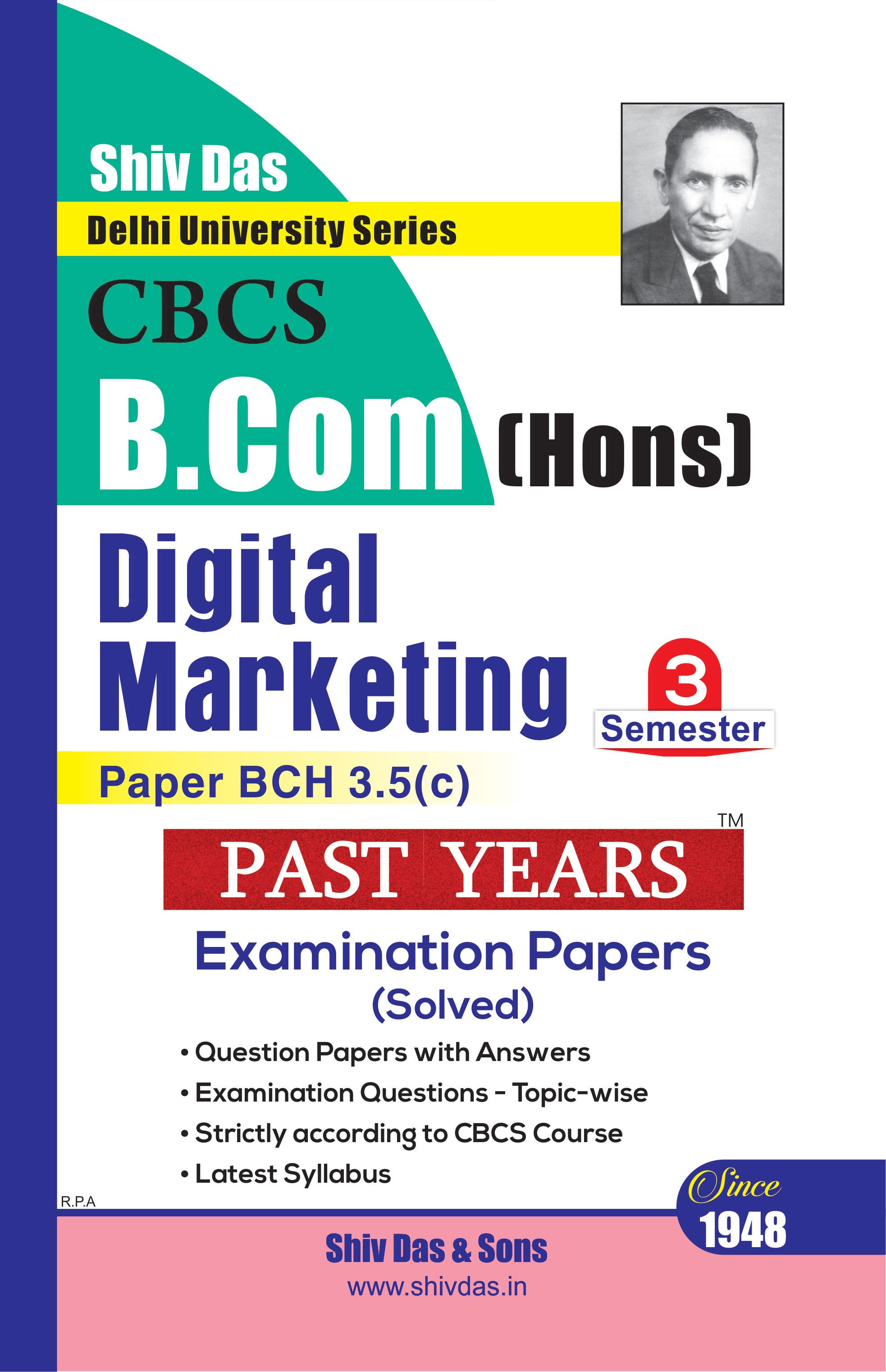 Digital Marketing for B.Com Hons Semester 3 for Delhi University by Shiv Das