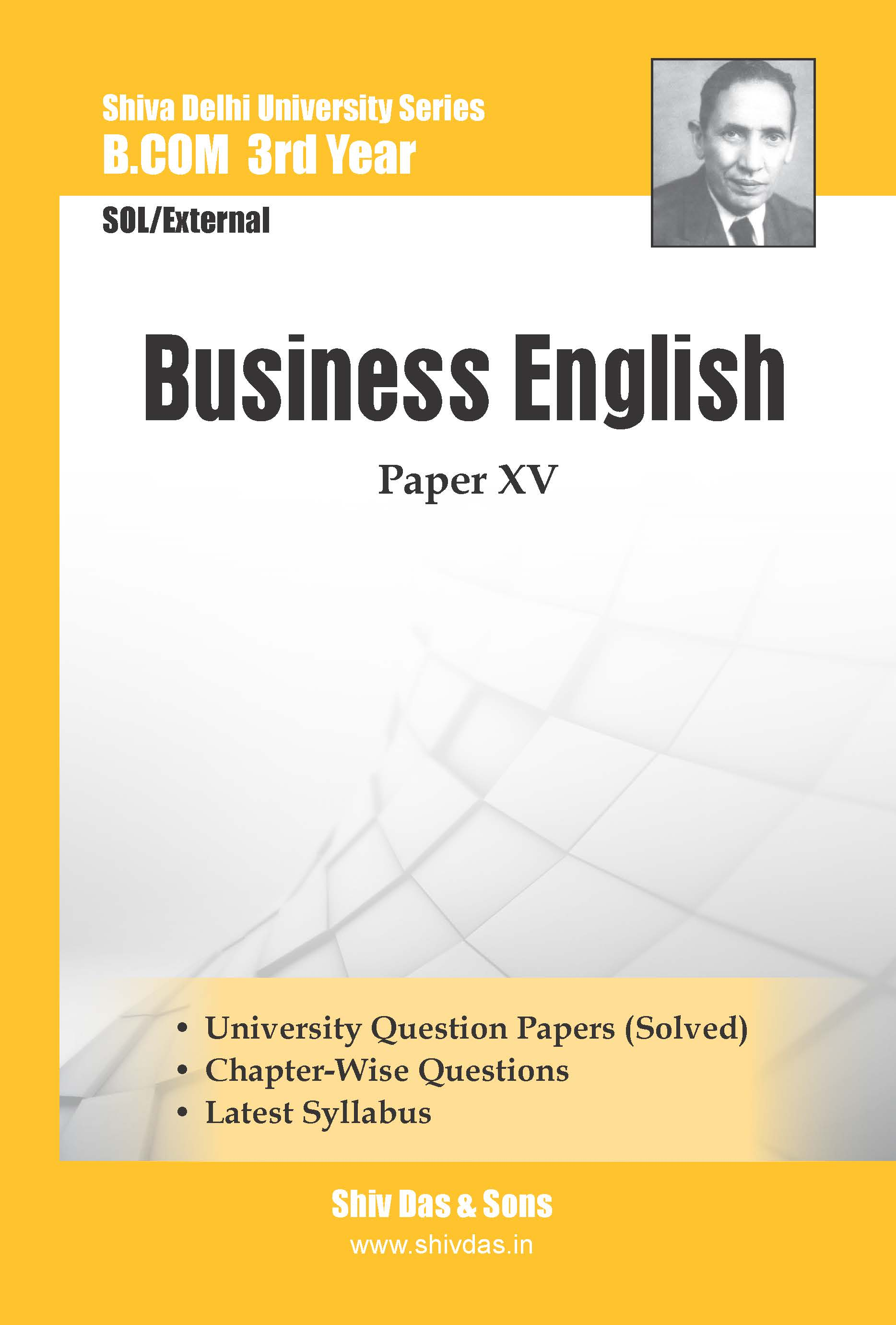B.Com 3rd Year SOL/External Business English Shiv Das Delhi University Series
