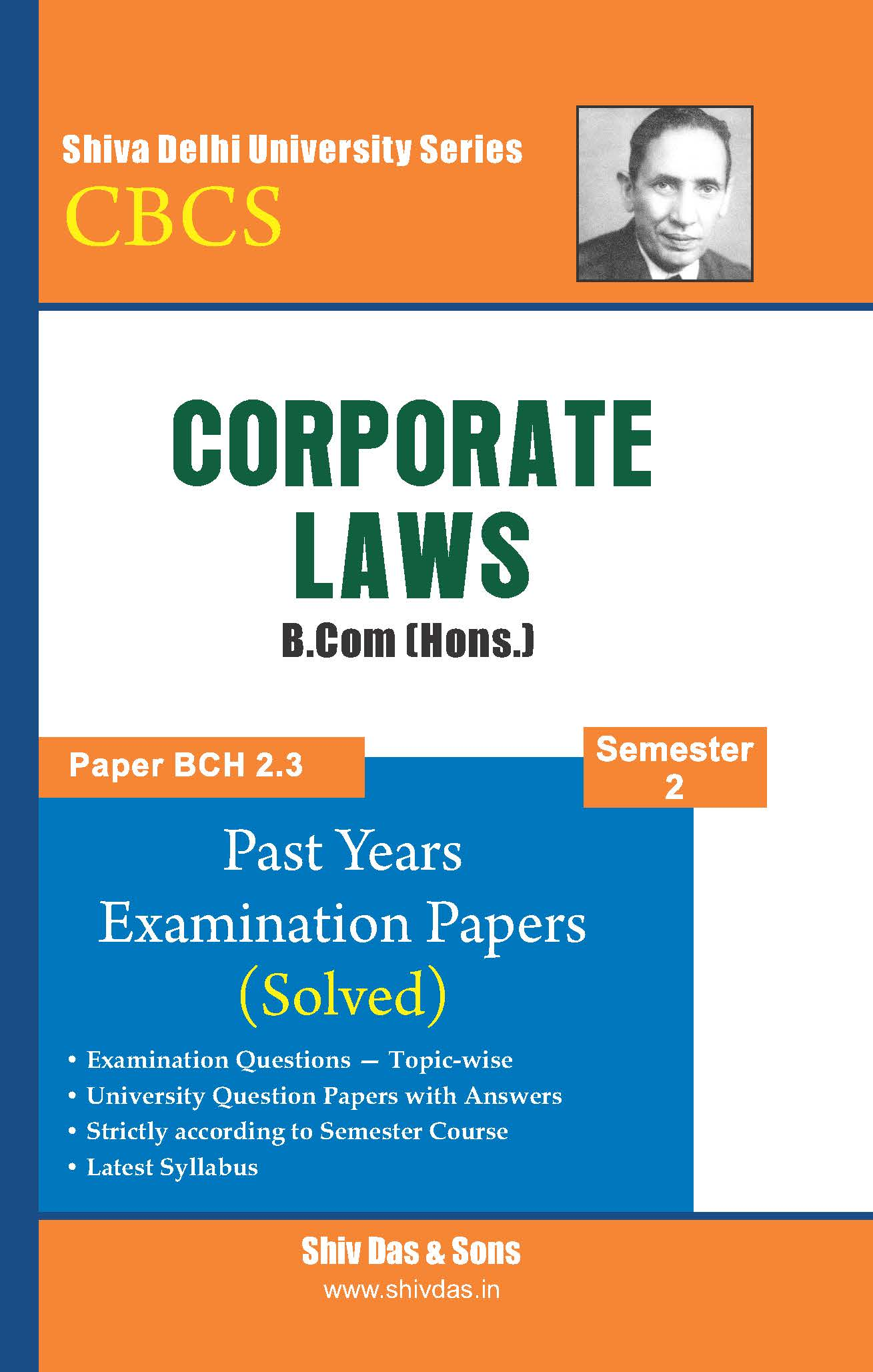 Corporate Laws for B.Com Hons SOL/External 1st Year