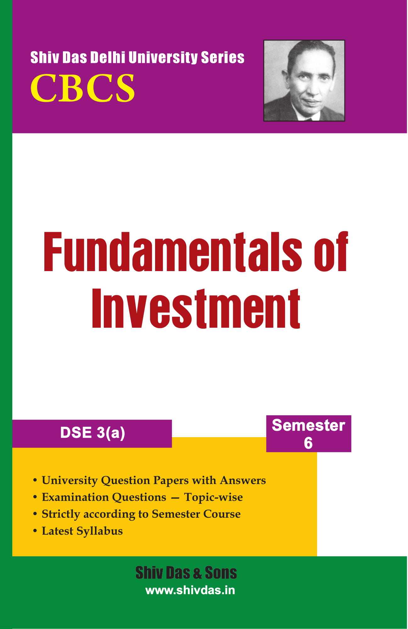 Fundamentals of Investment for B.Com Hons  Semester 6