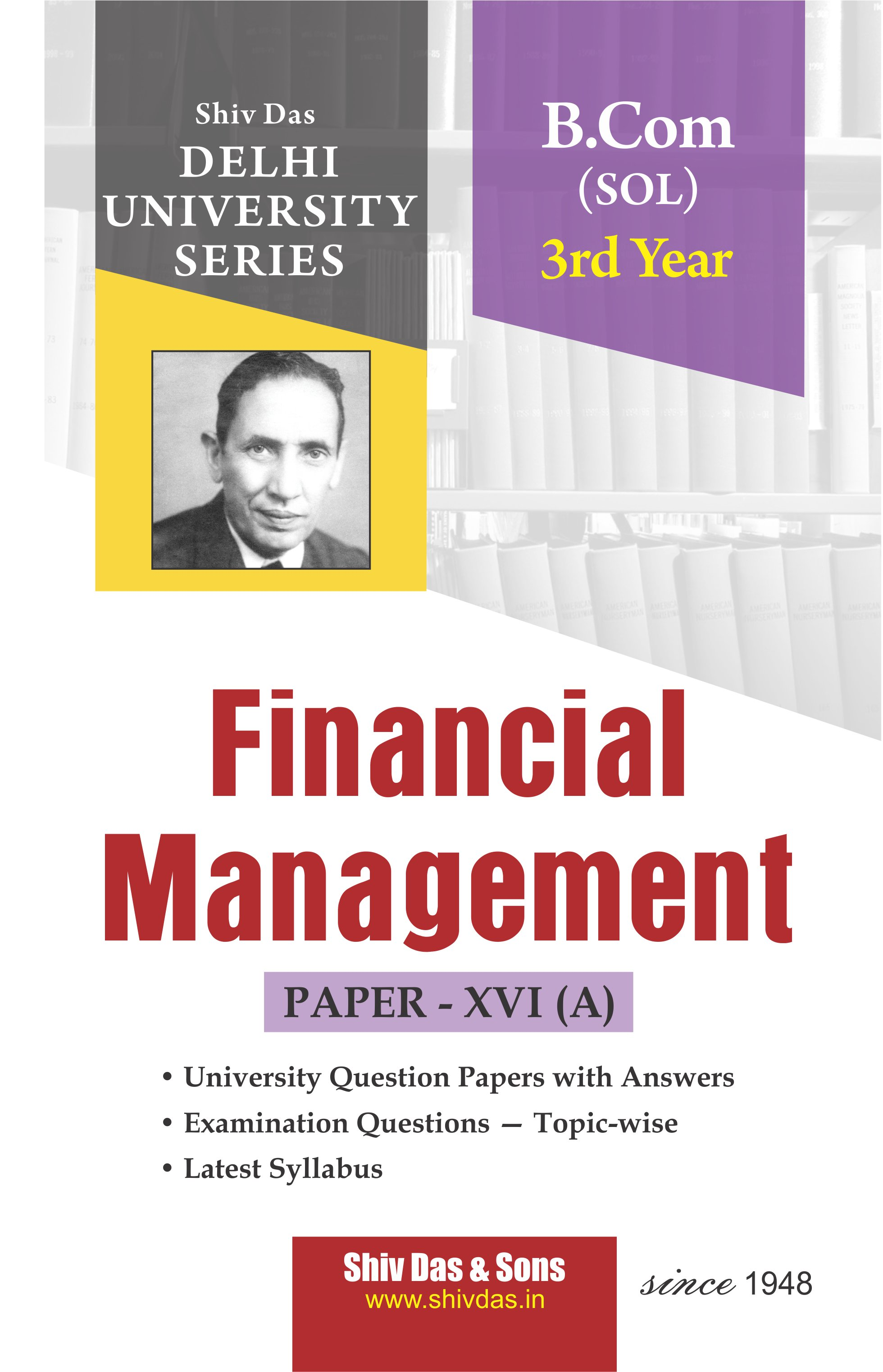 Financial Management (Eng. Medium) for B.Com 3rd Year SOL/External