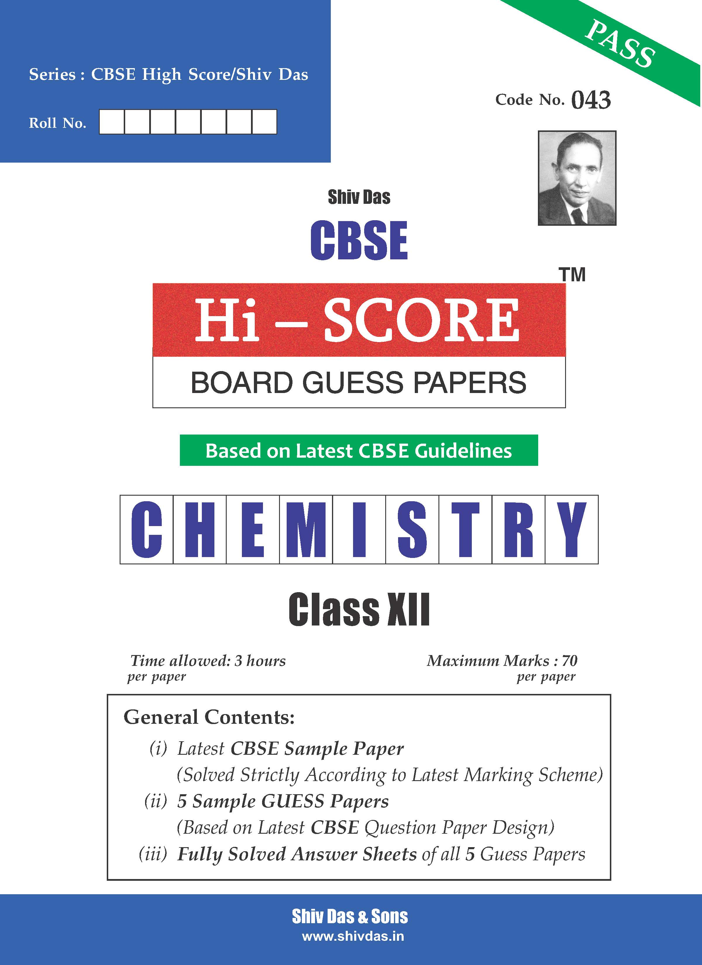 CBSE Hi Score Board Guess Papers for Class 12 Chemistry