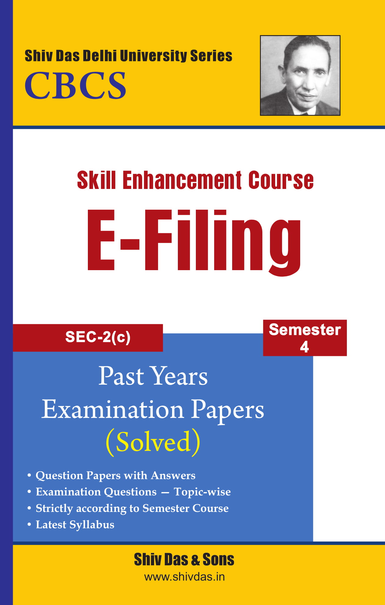 E-Filling for B.Com Hons Semester 4