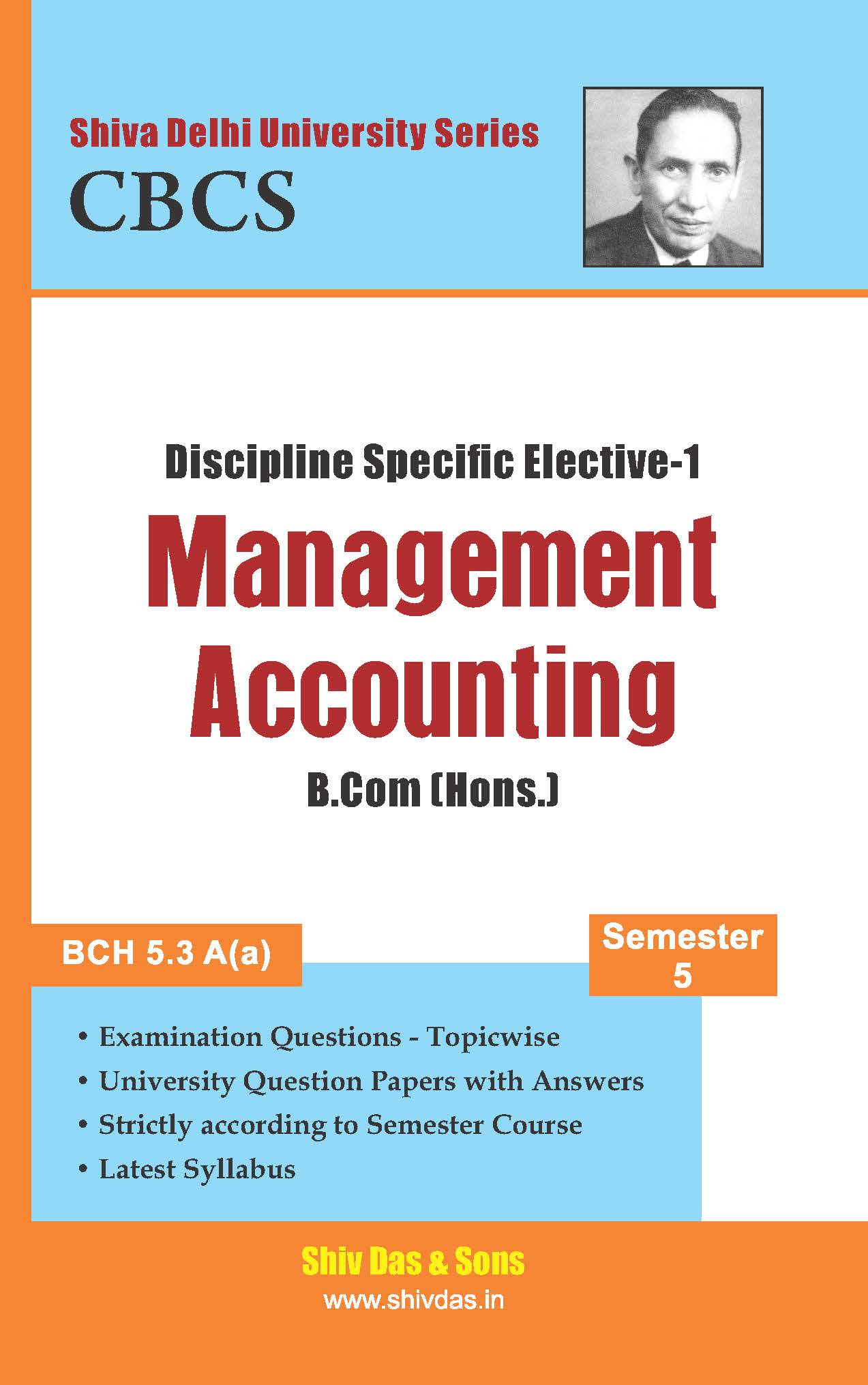 B.Com Hons. Semester- 5 Management Accounting