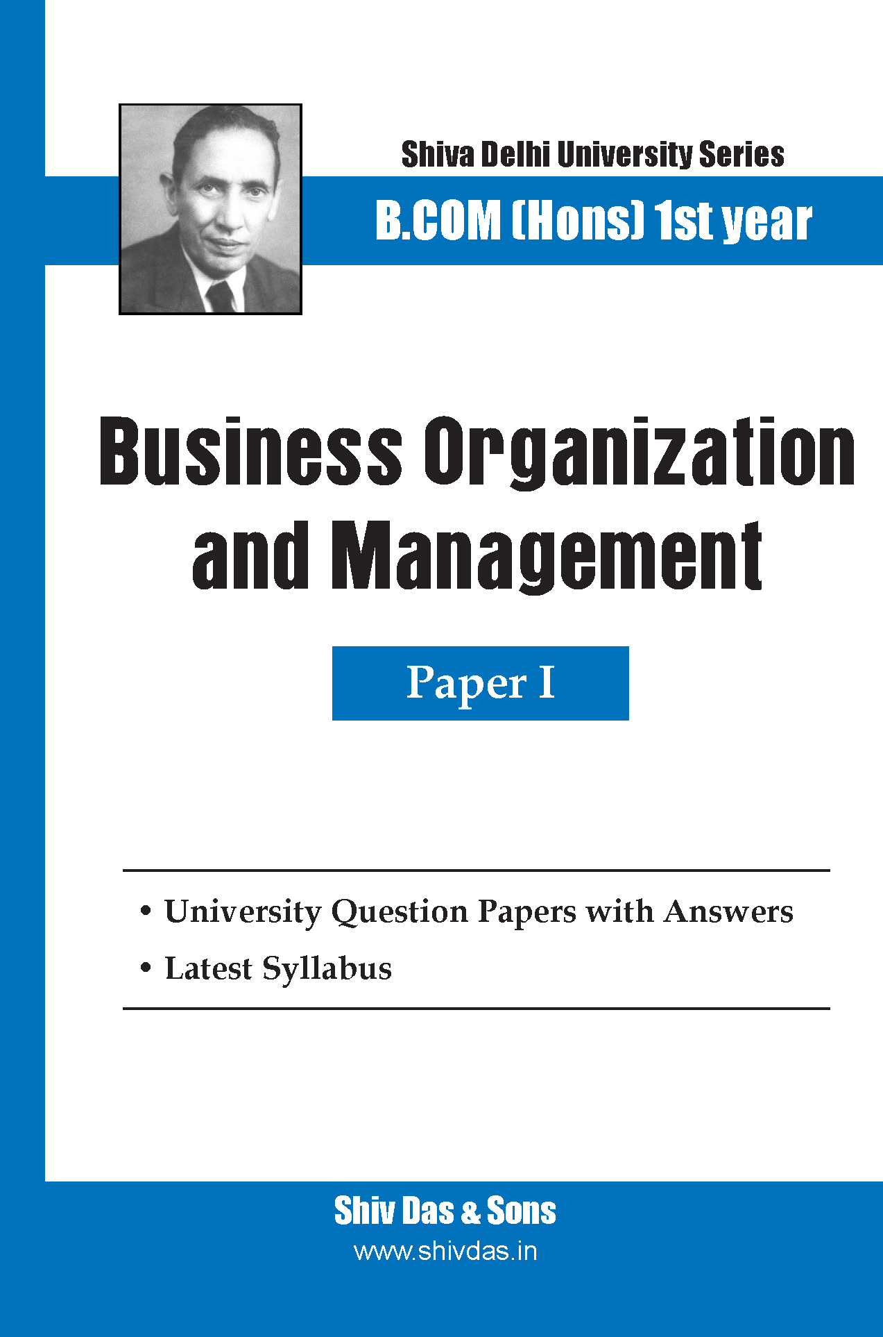 Business Organization and Management B.Com Hons 1st Year-SOL/External