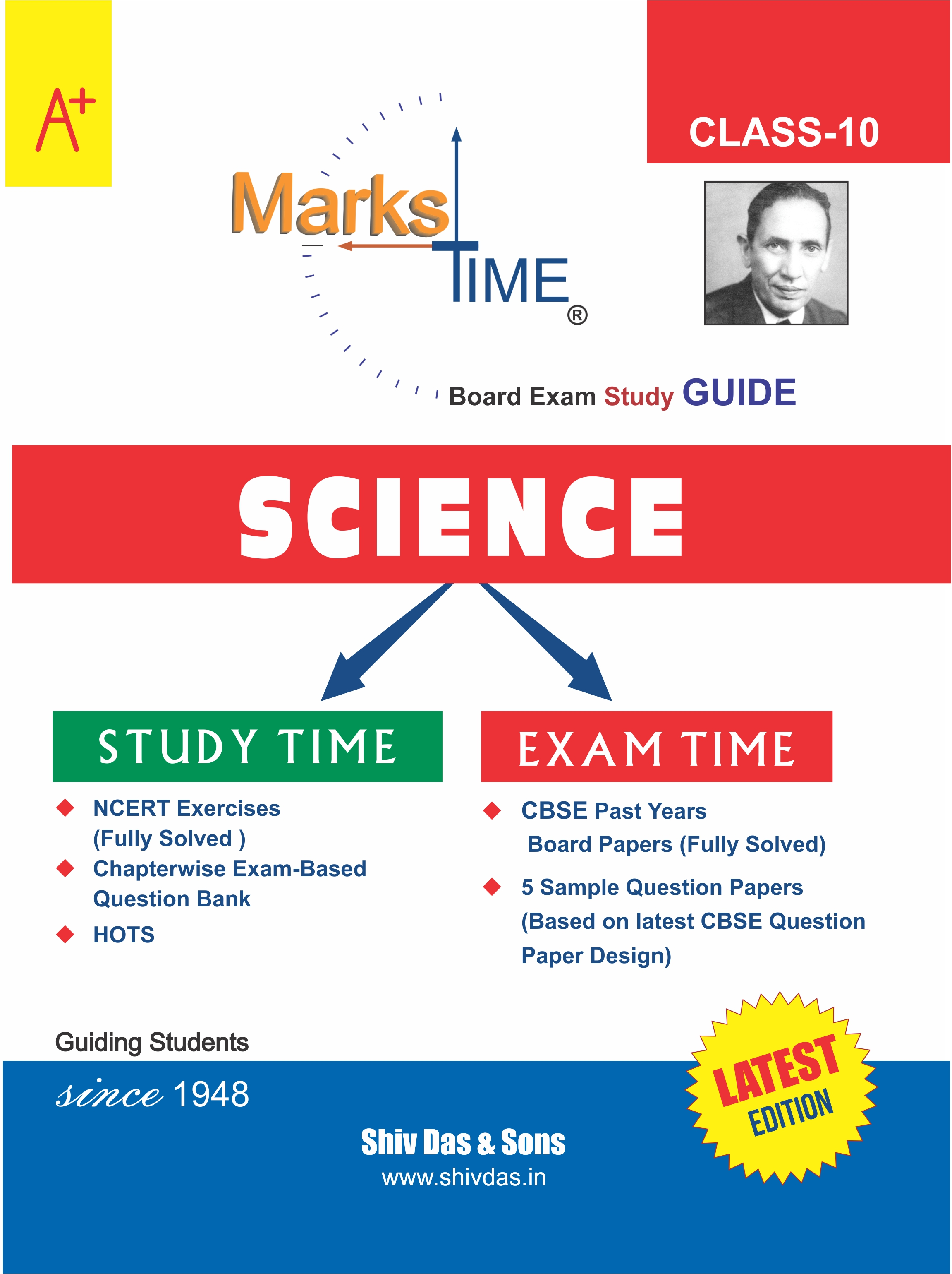 Marks Time CBSE Board Study Guide for Class 10 Science (2020 Board Exam Edition)