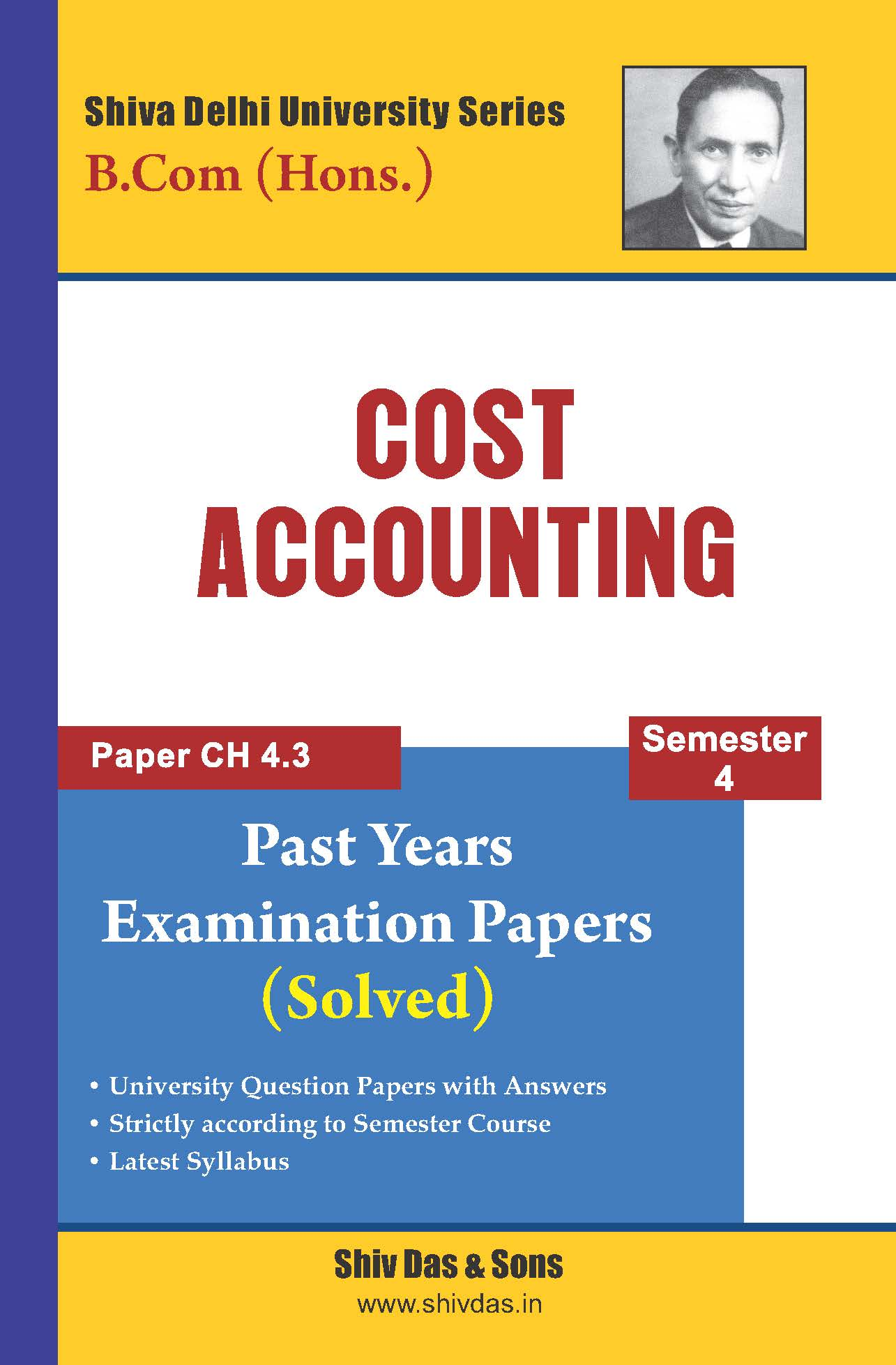 Cost Accounting for B.Com Hons. Semester- 4