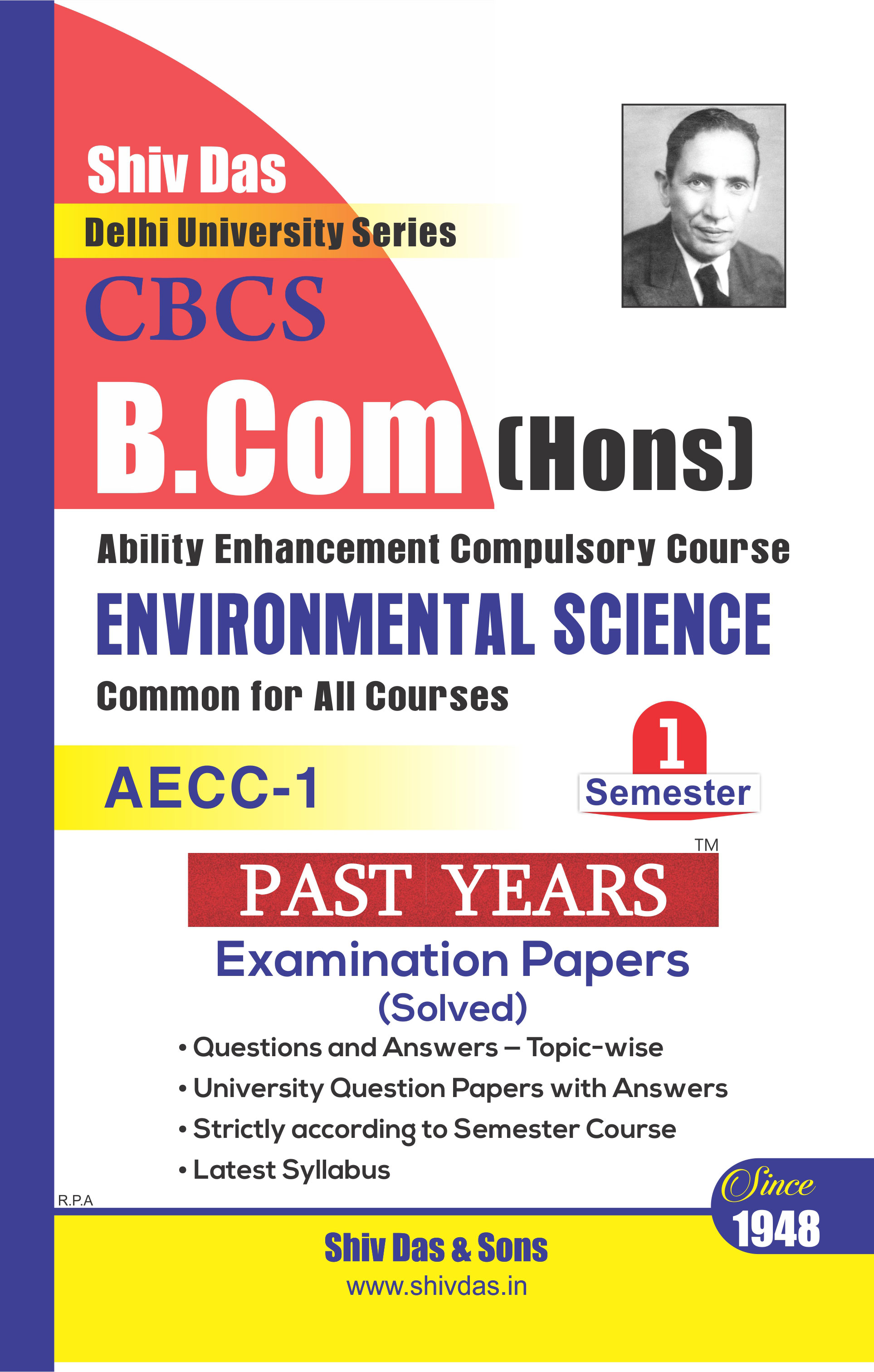 B.Com Hons. Semester- 1 Environmental Science