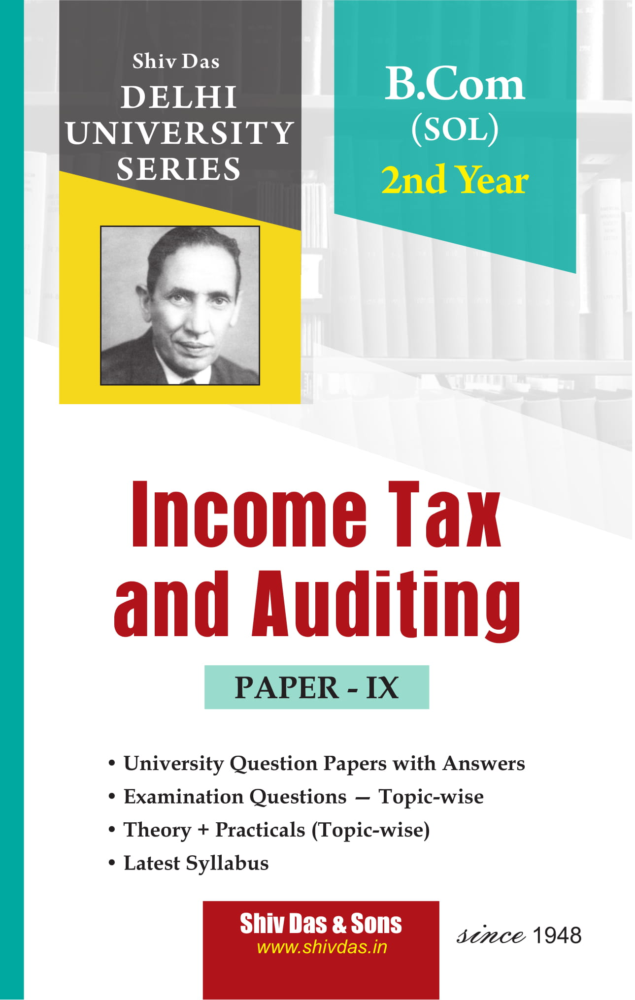 Income Tax and Auditing (Eng. Medium) for B.Com 2nd Year SOL/External