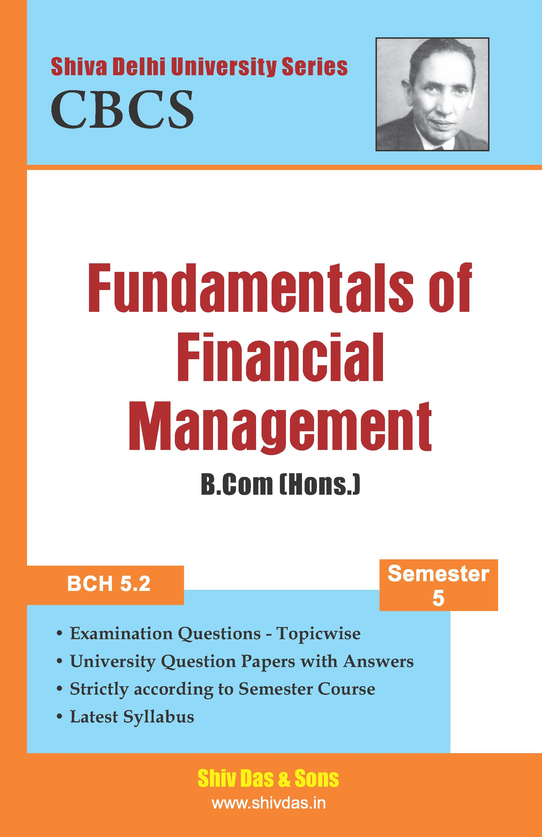 B.Com [Hons.] Semester-5 Fundamentals of Financial Management