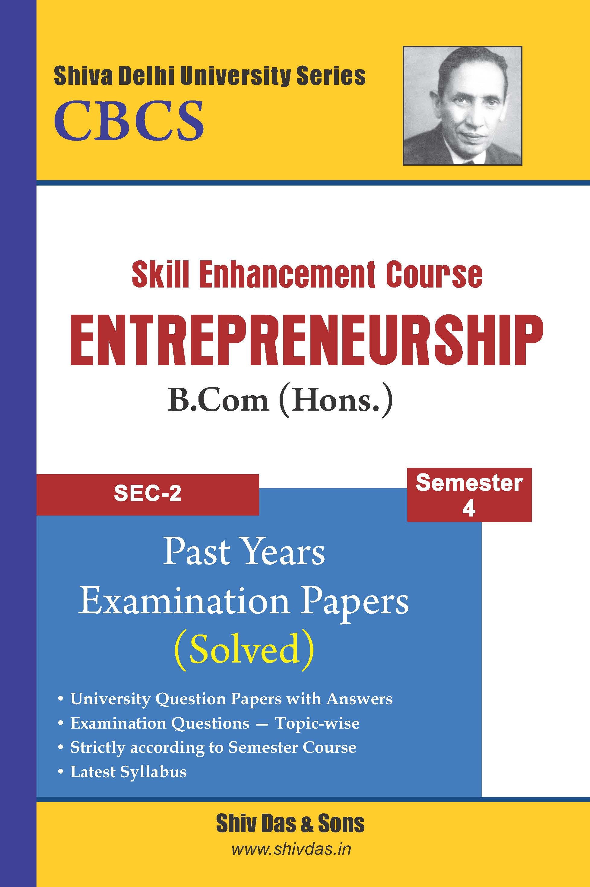 Entrepreneurship for B.Com Hons Semester 4