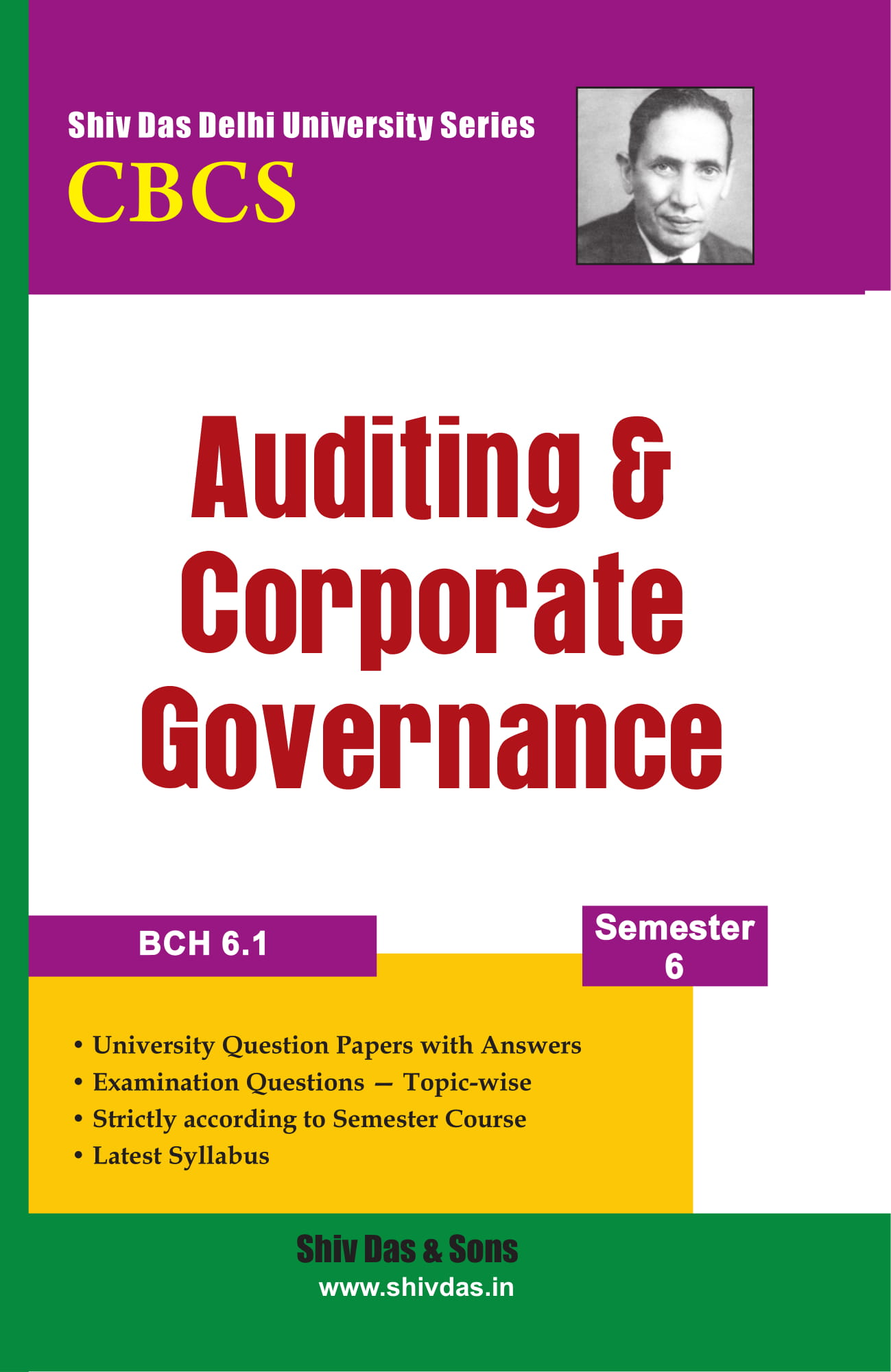 Auditing & Corporate Governance for B.Com Hons Semester 6