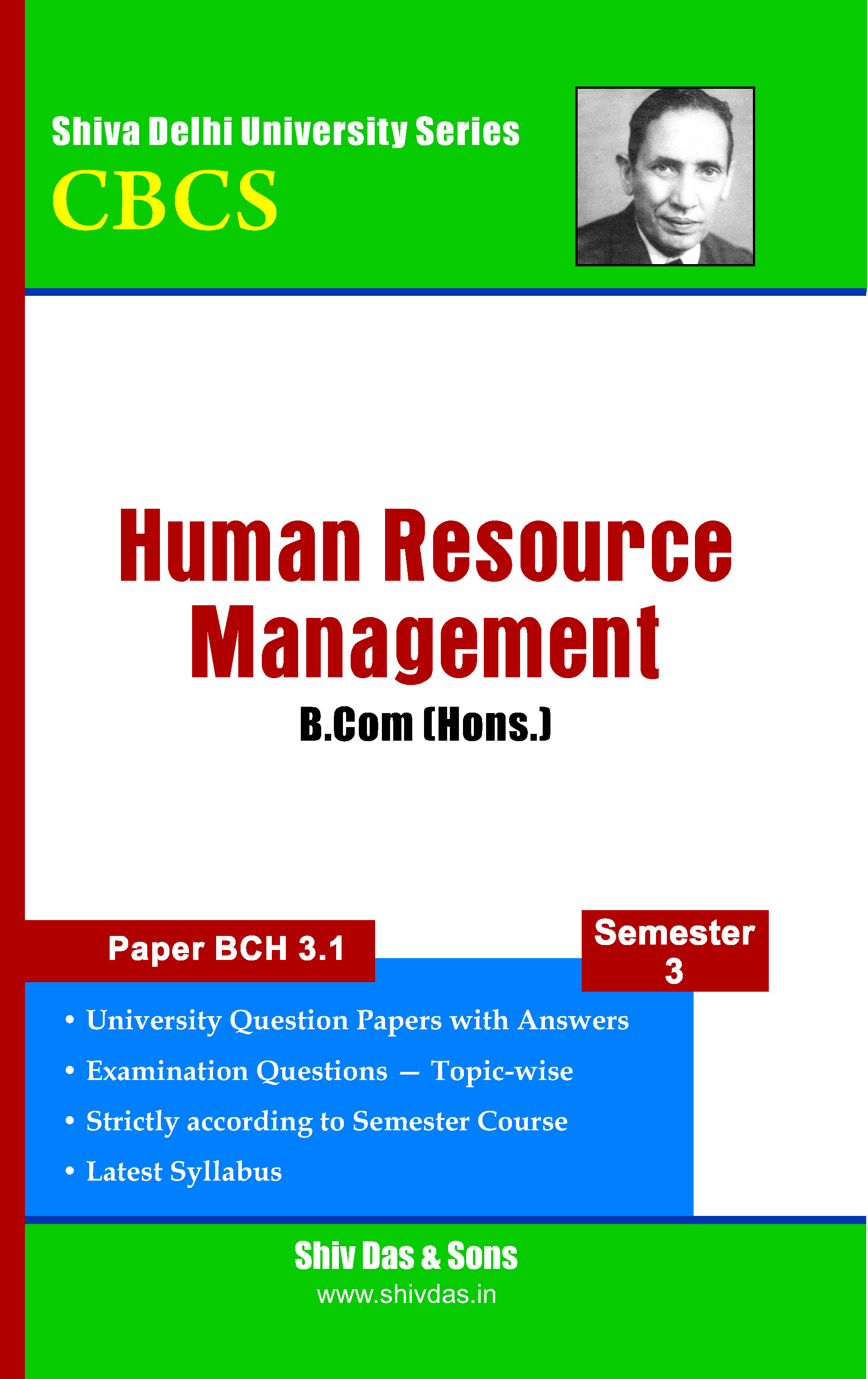 B.Com [Hons.] Semester-3 Human Resource Management