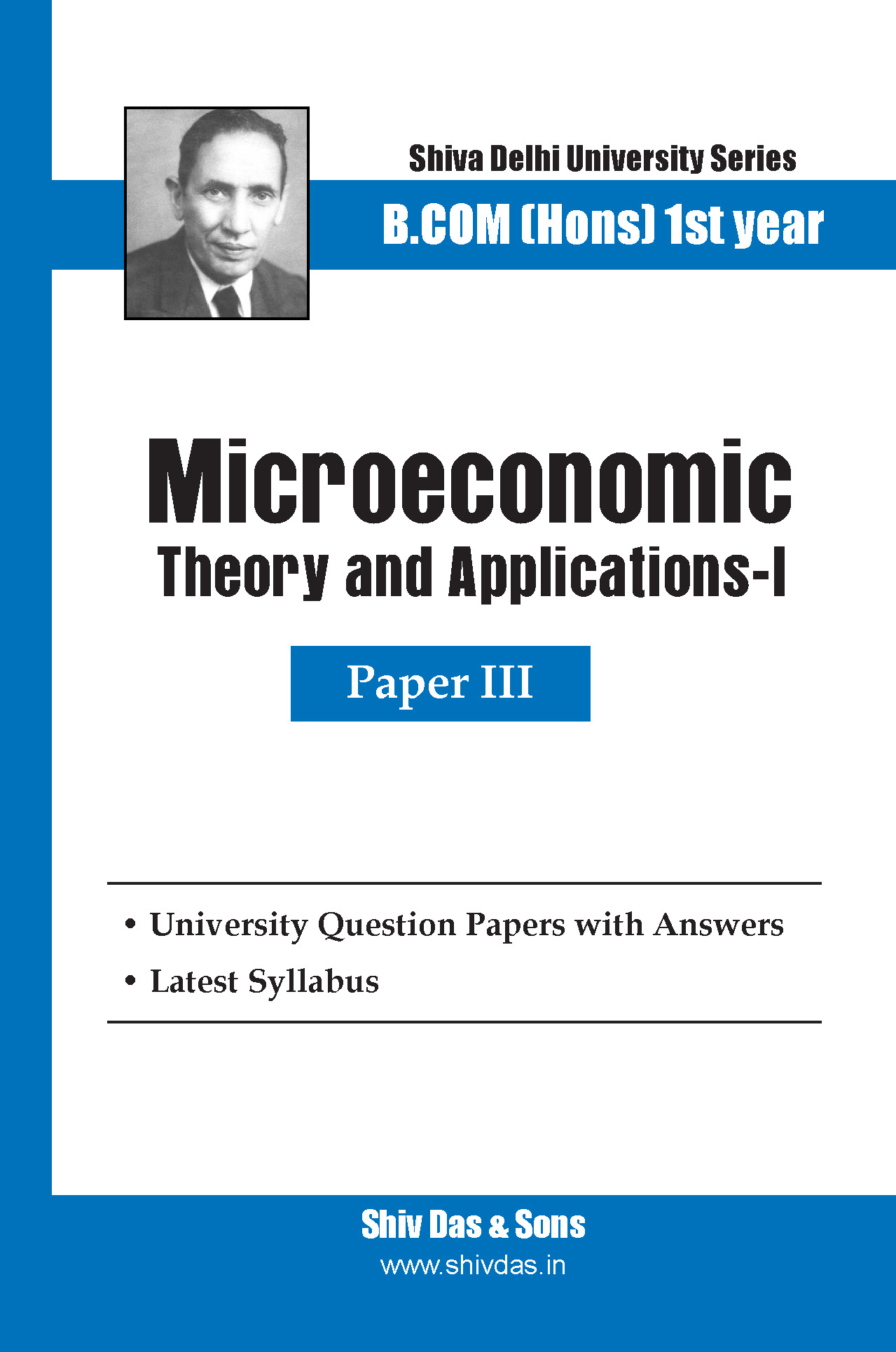 B.Com Hons-SOL/External-1st Year-Microeconomics theory and Applications-I-Shiv Das-Delhi University Series